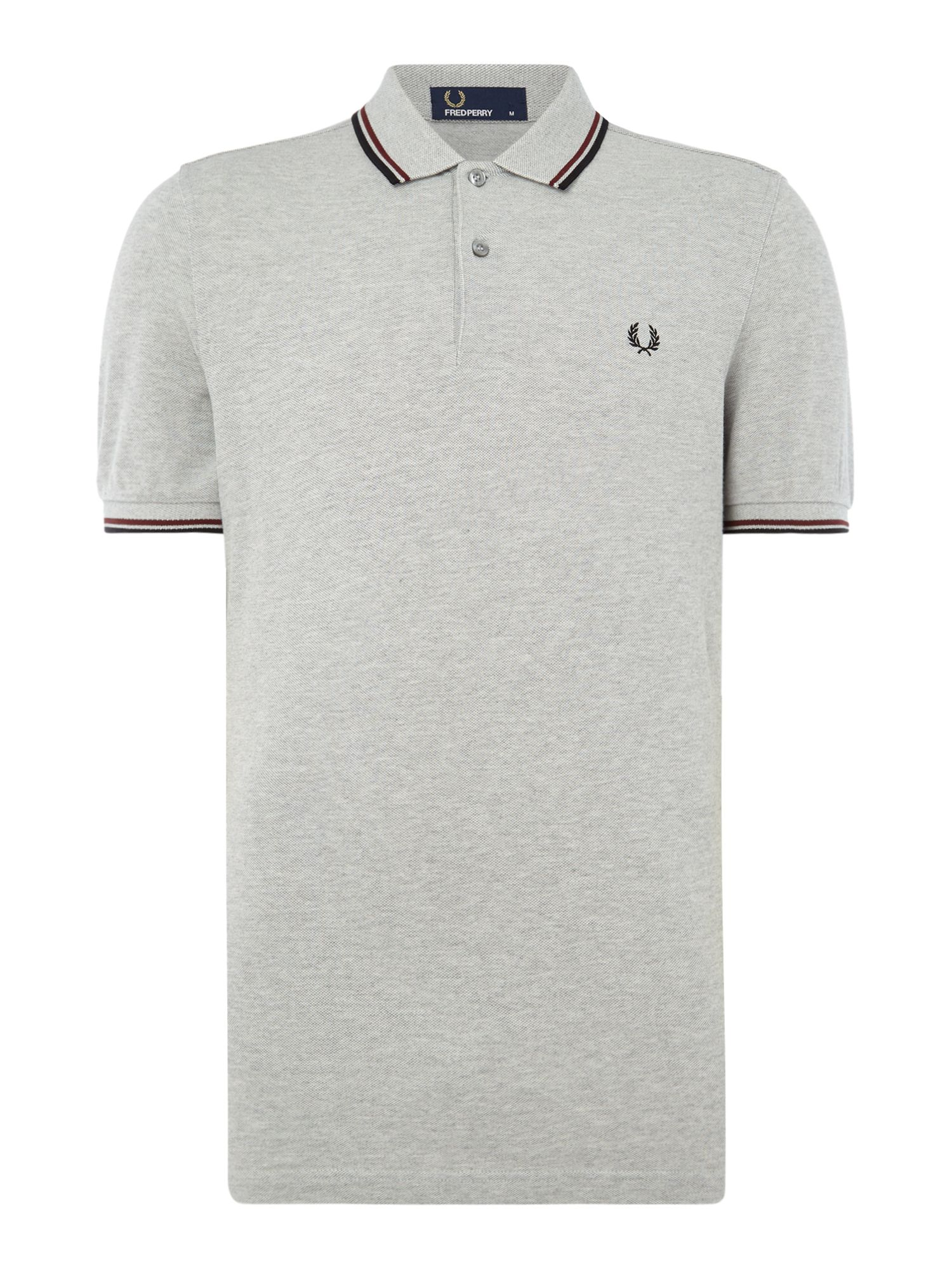 Men's Fred Perry Twin tipped polo, Port