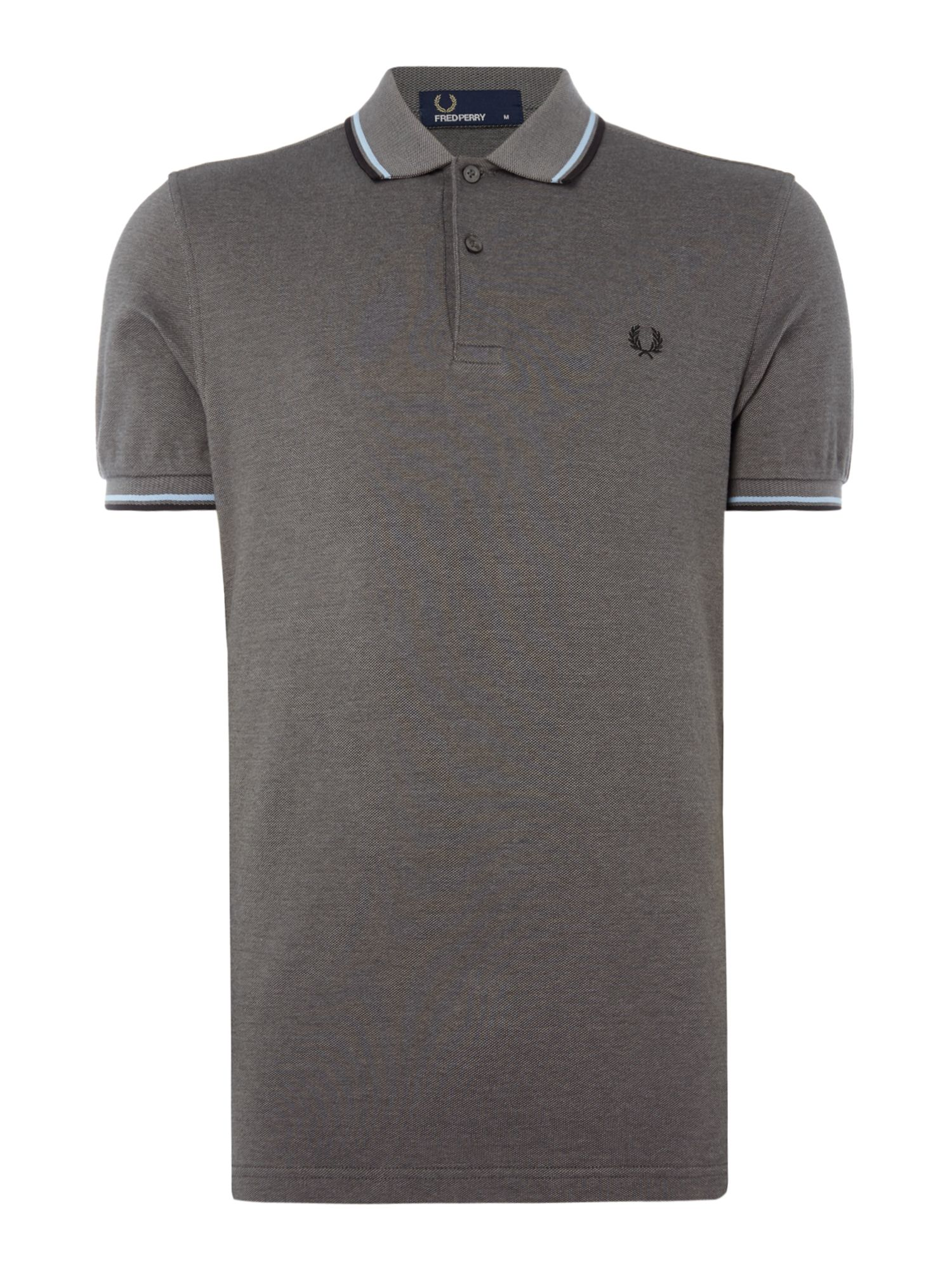 Men's Fred Perry Twin tipped polo, Dark Grey