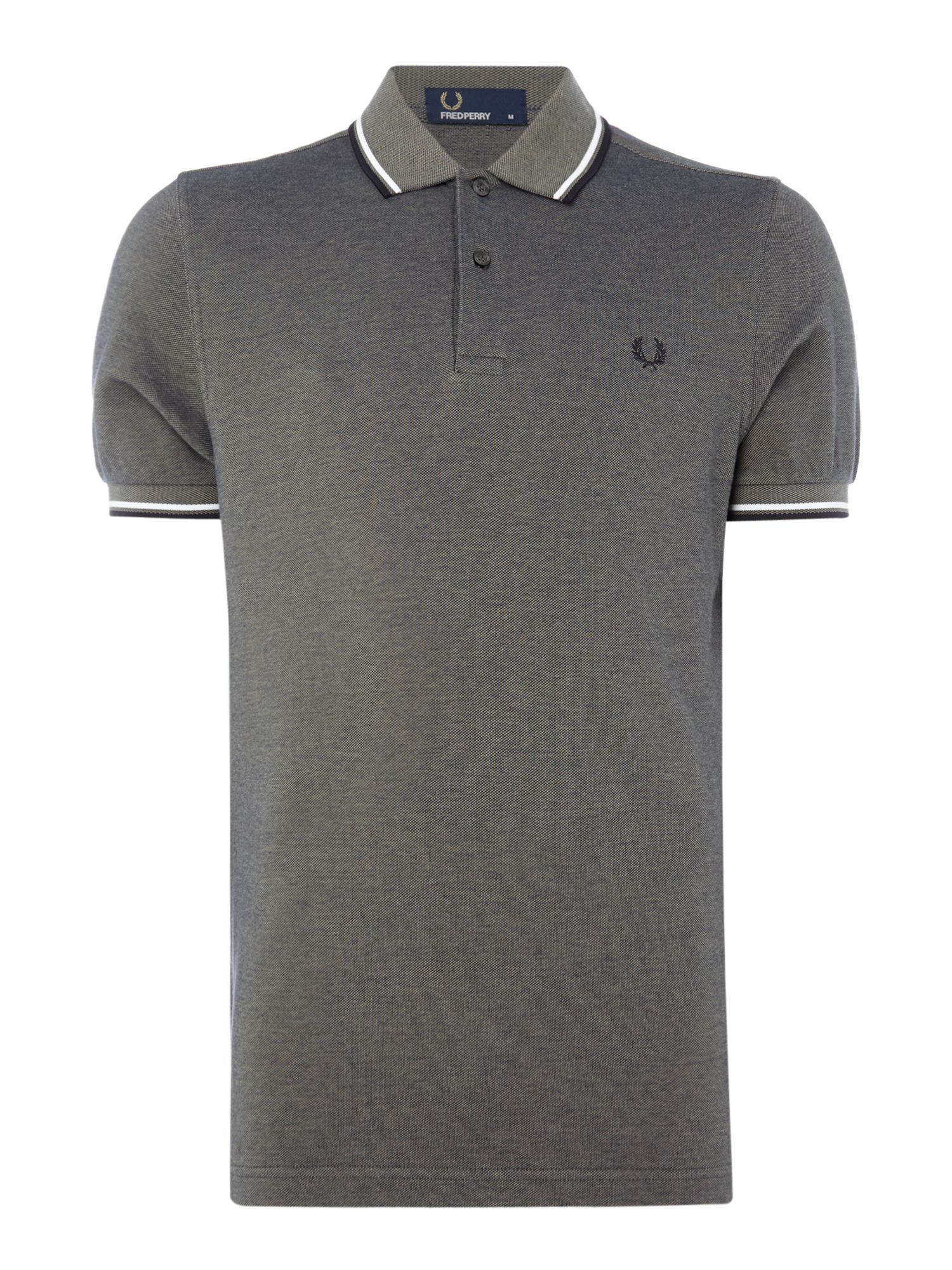 Men's Fred Perry Twin tipped polo, Dark Green