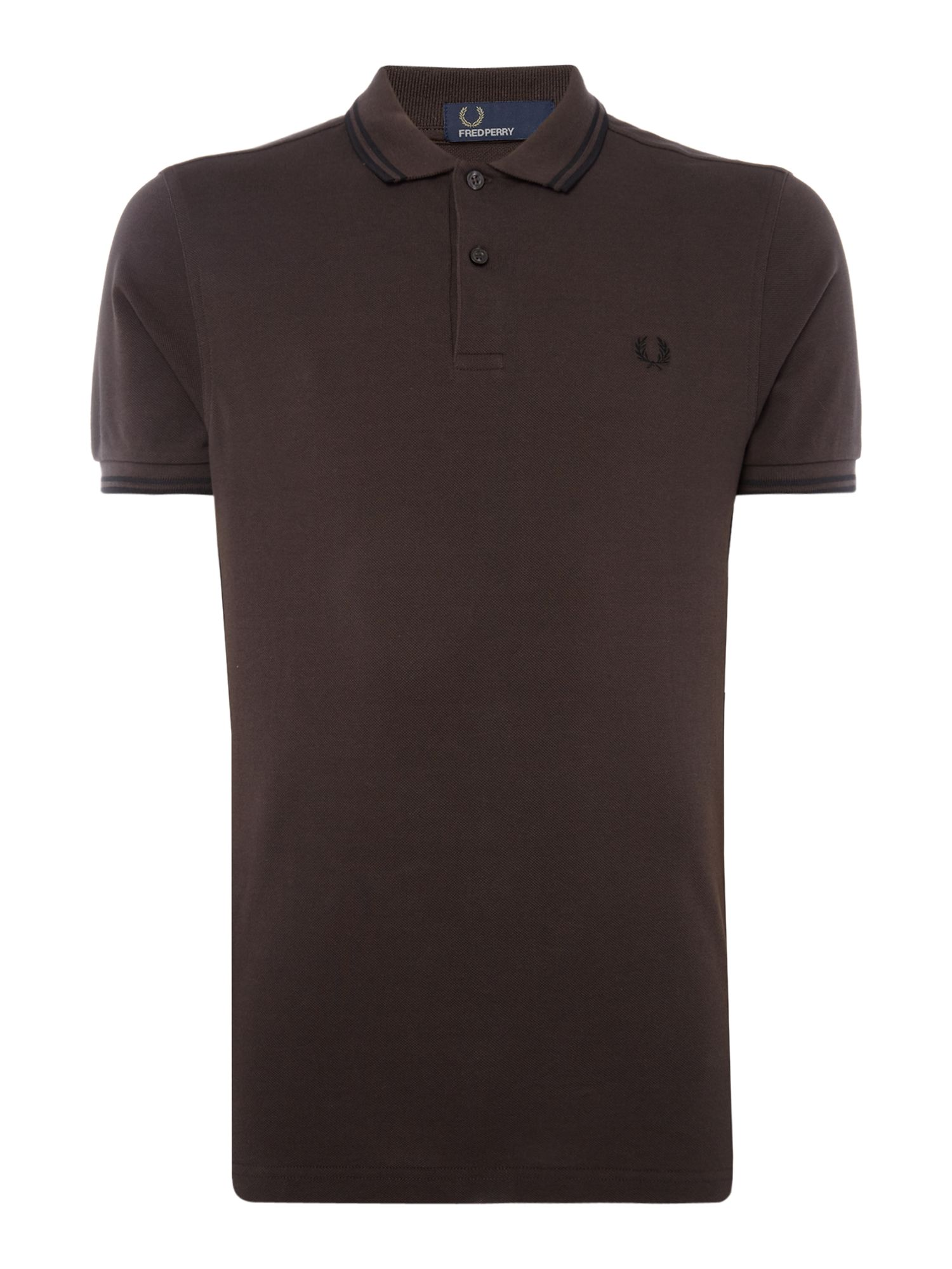 Men's Fred Perry Twin tipped polo, Brown