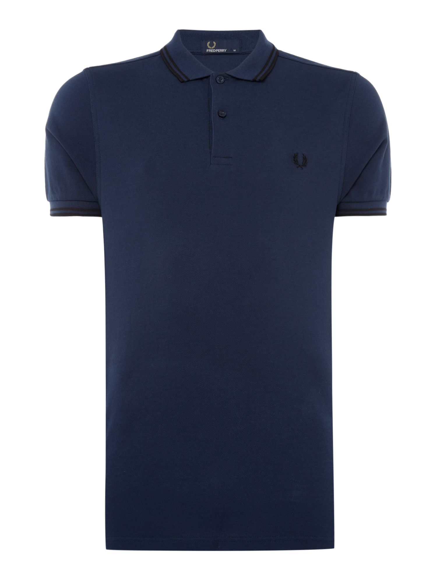Men's Fred Perry Twin tipped polo, Midnight
