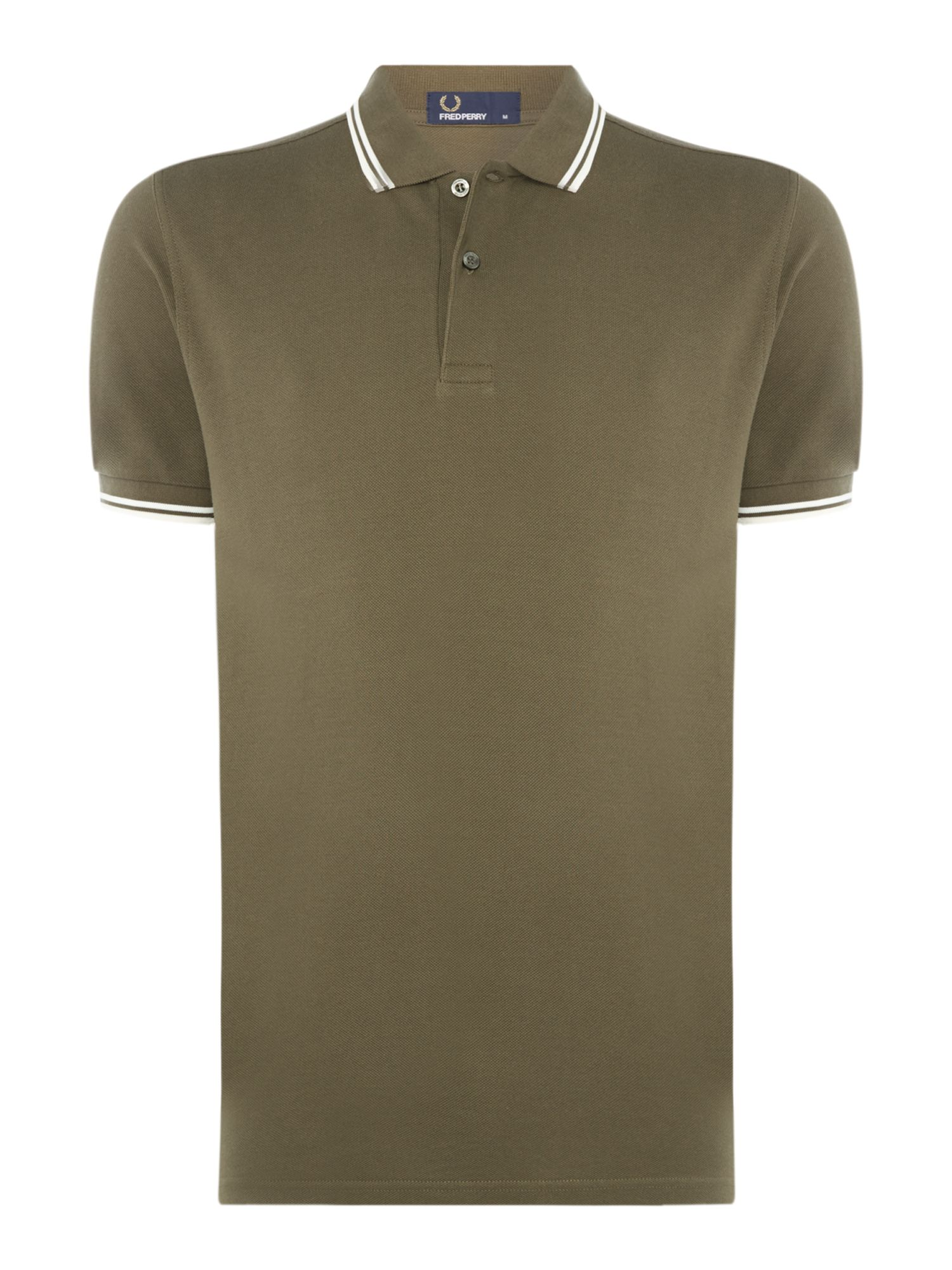 Men's Fred Perry Twin tipped polo, Green