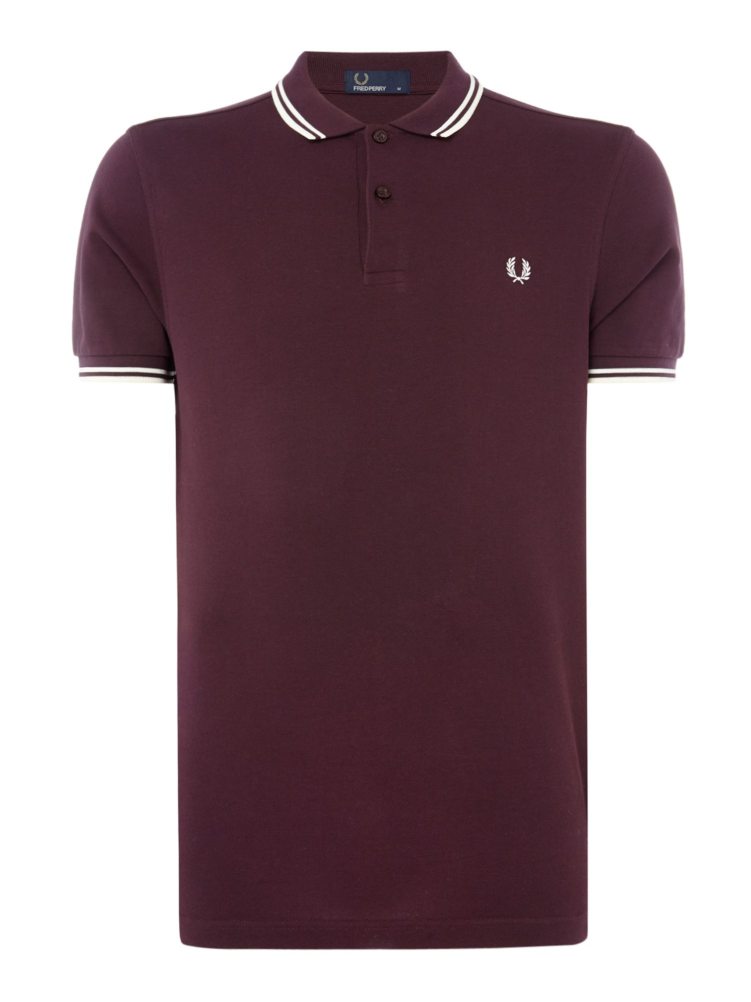 Men's Fred Perry Twin tipped polo, Berry