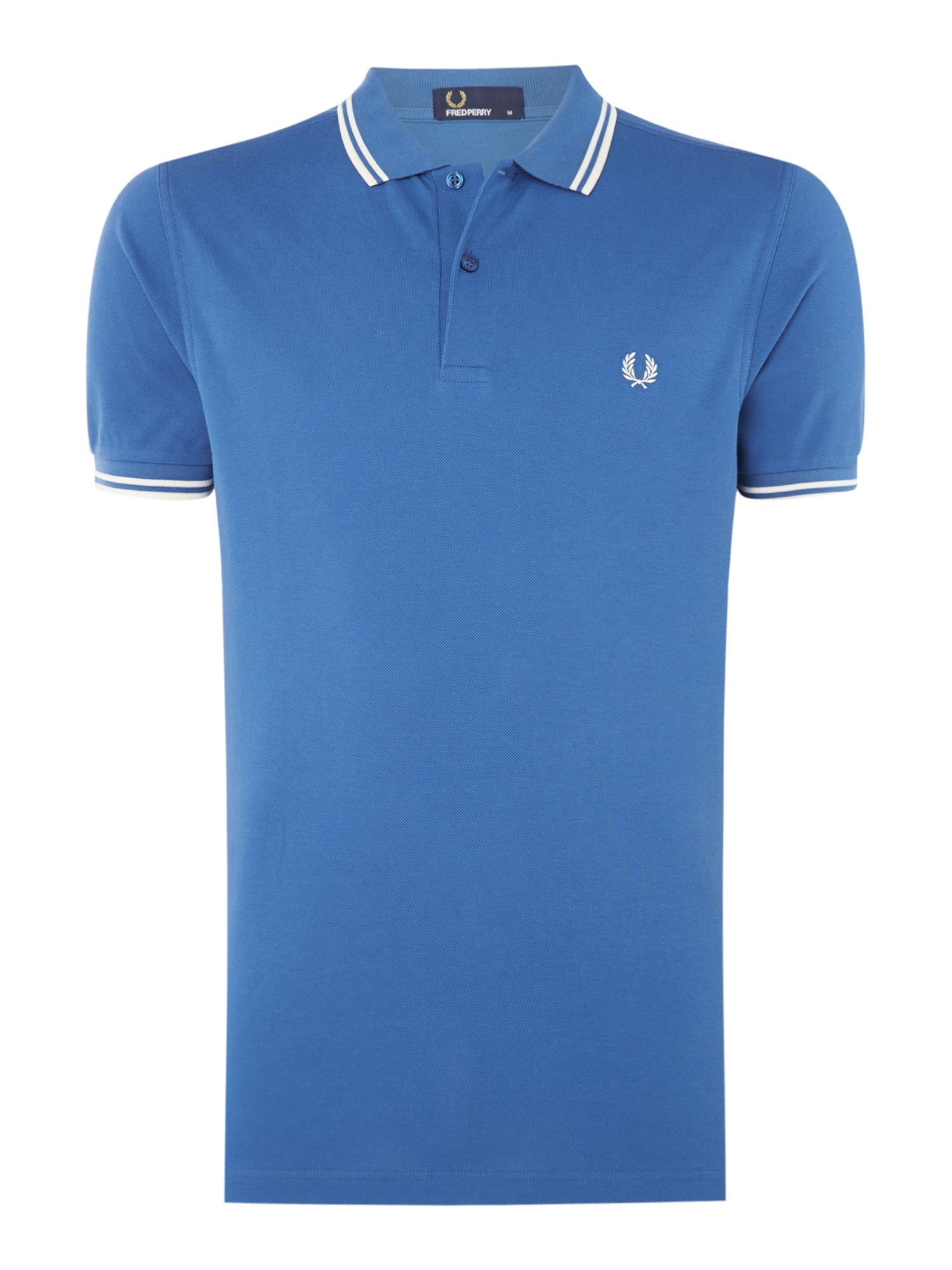 Men's Fred Perry Twin tipped polo, Blue