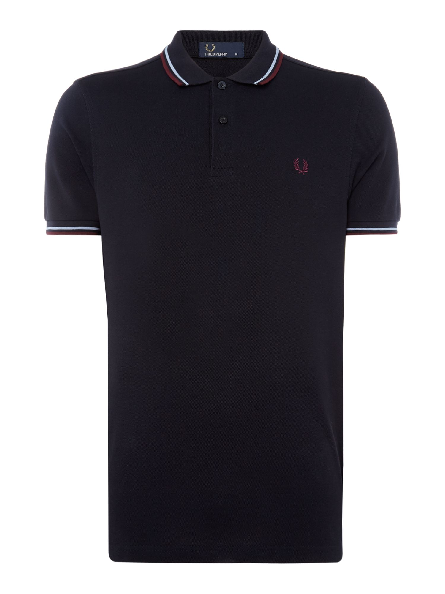 Men's Fred Perry Twin tipped polo, Black