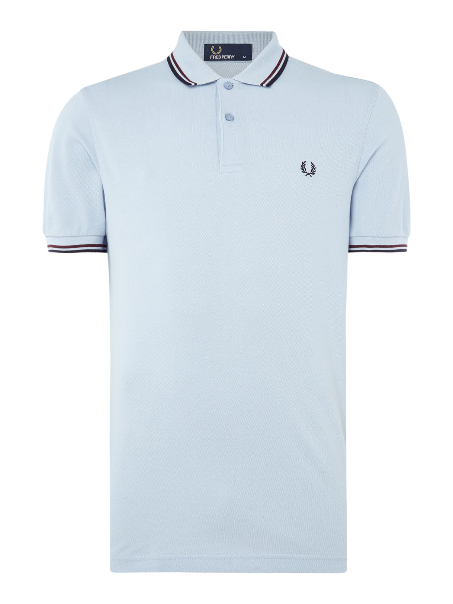 Men's Fred Perry Twin tipped polo, Light Blue