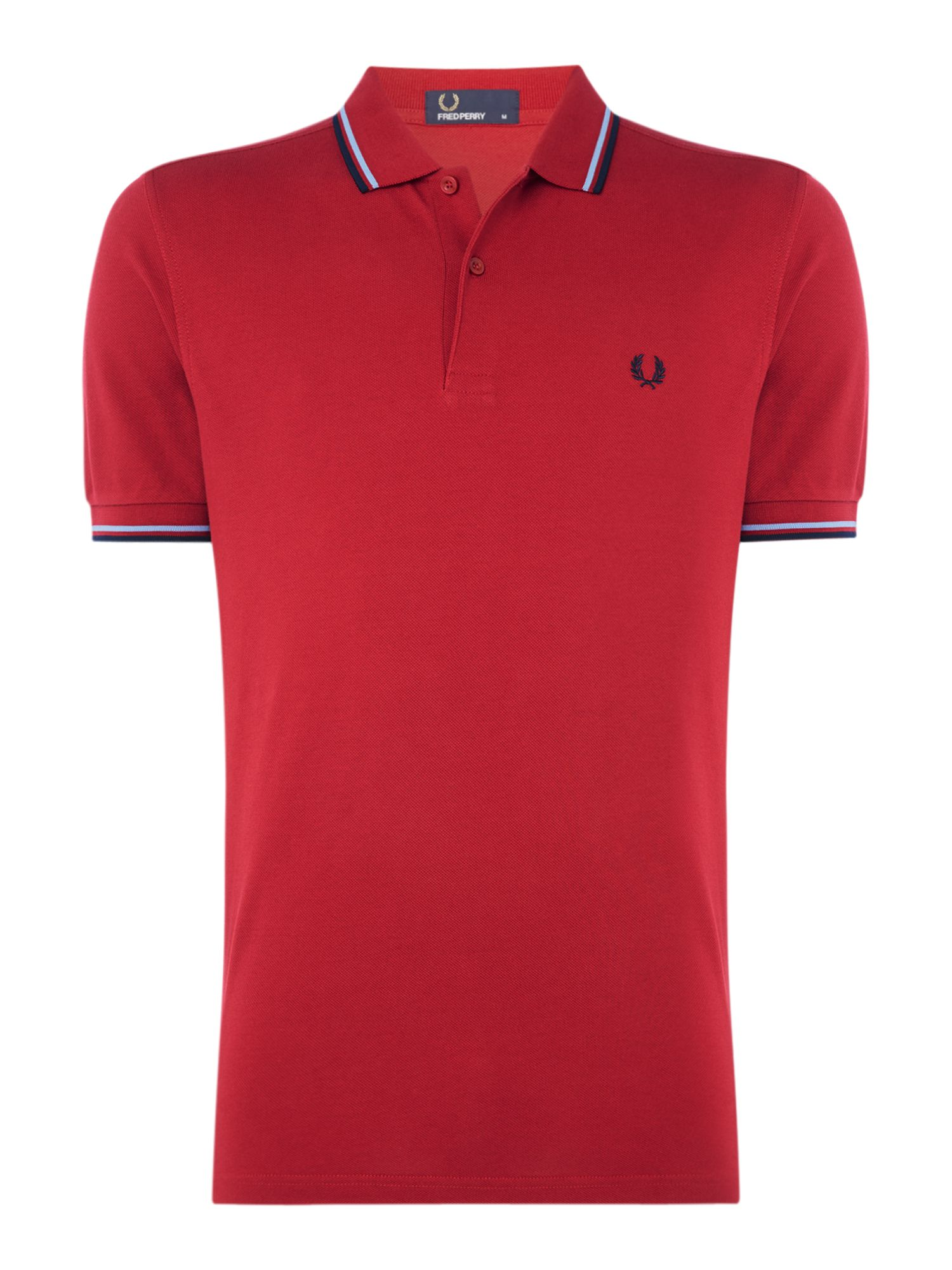 Men's Fred Perry Twin tipped polo, Red