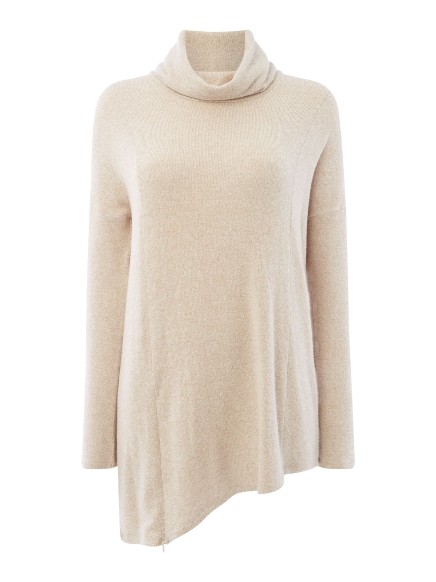 Maison De Nimes Cut and Sew Turtleneck, Oatmeal