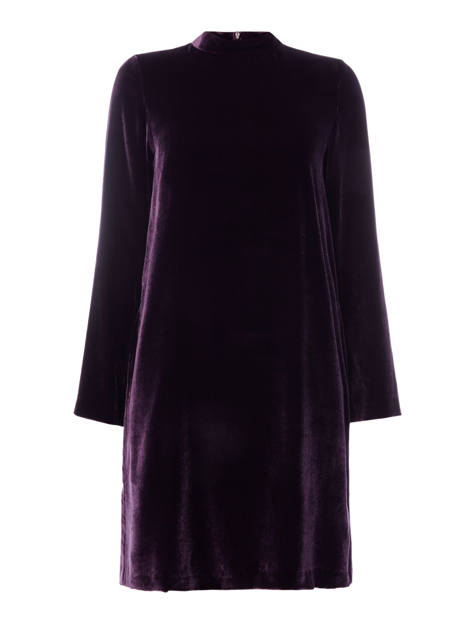 Max Mara Studio Odile velvet dress, Purple