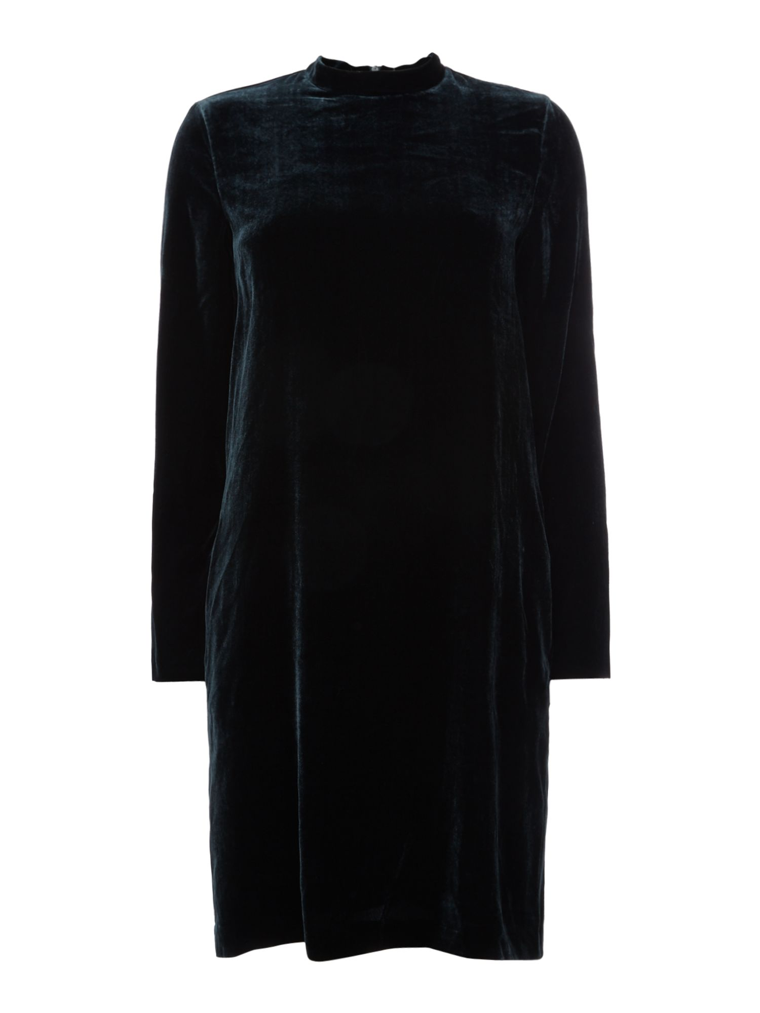 Max Mara Studio Odile velvet dress, Dark Green