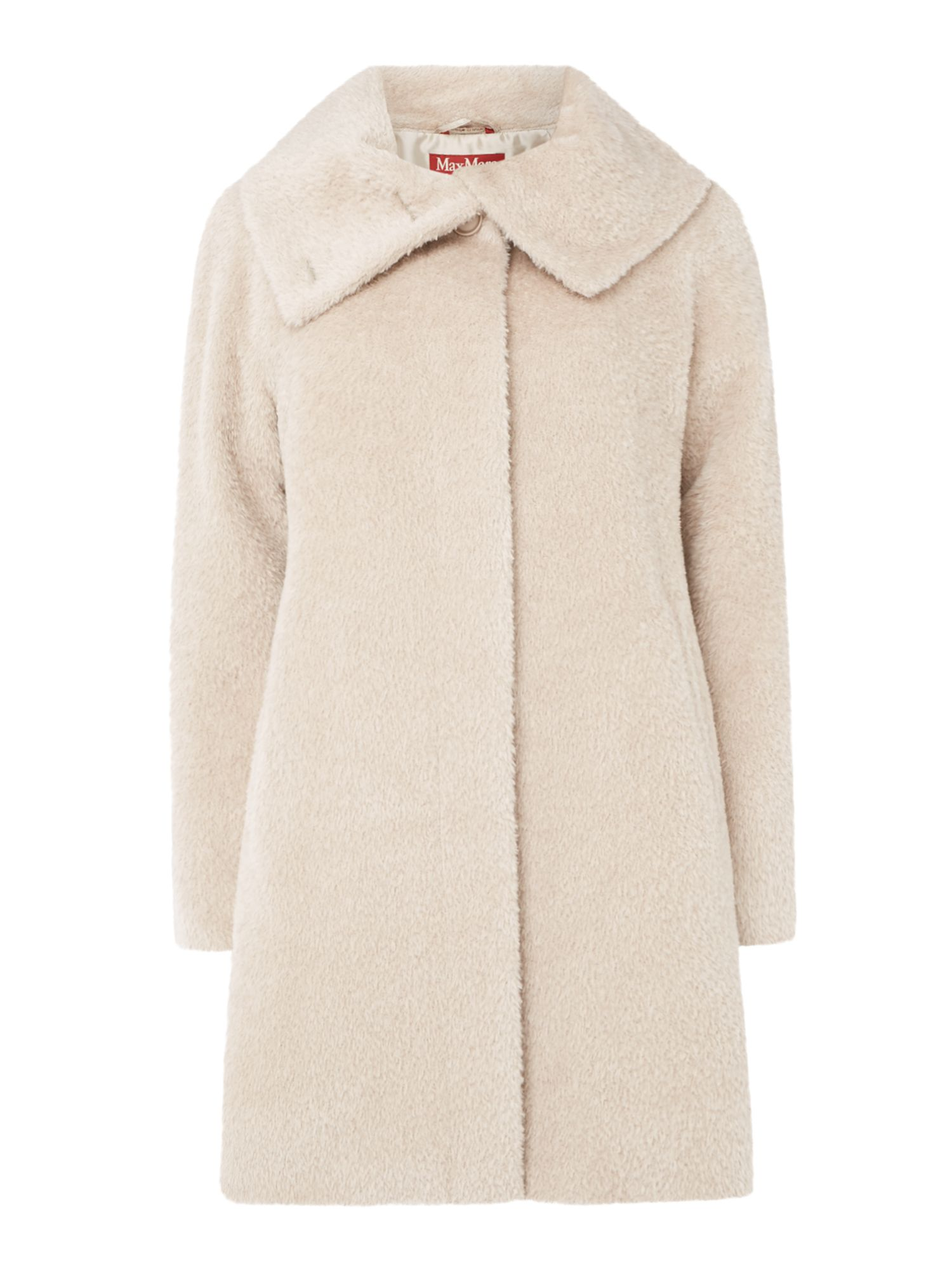 Max Mara Studio Gregory funnel neck coat, Dove