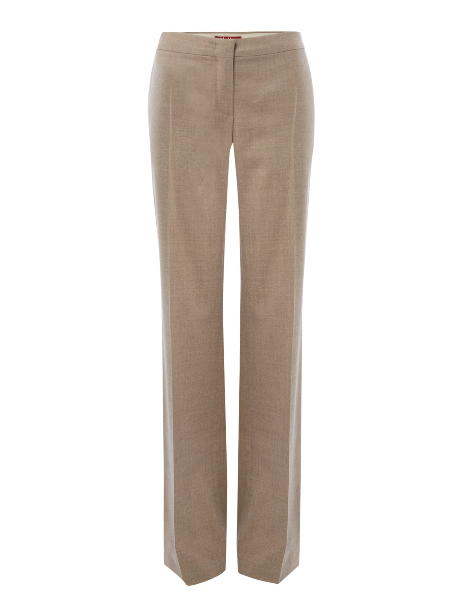 Max Mara Studio Azoto long wool trouser, Sand