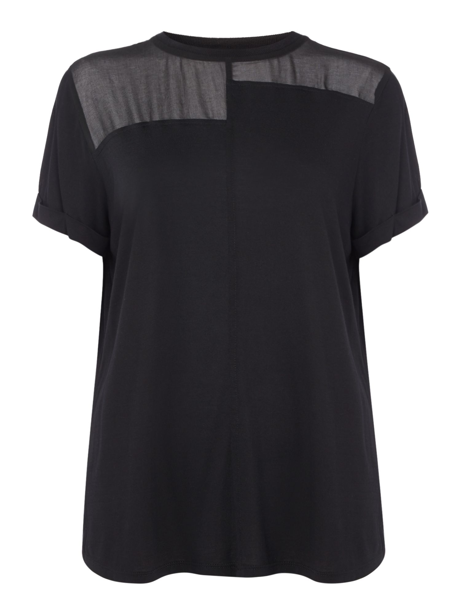Label Lab Chiffon mix & match tee, Black