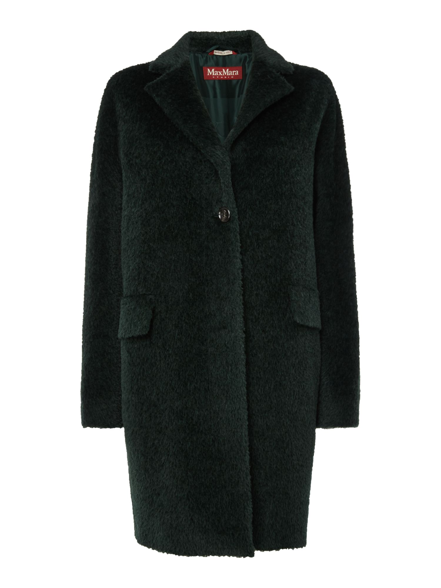 Max Mara Studio Camping alpaca wool coat, Dark Green