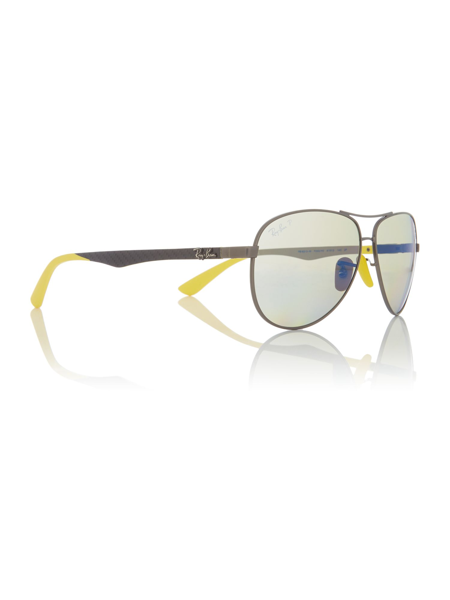 Click to view product details and reviews for Ray Ban Gunmetal Rb8313m Pilot Sunglasses Silver.
