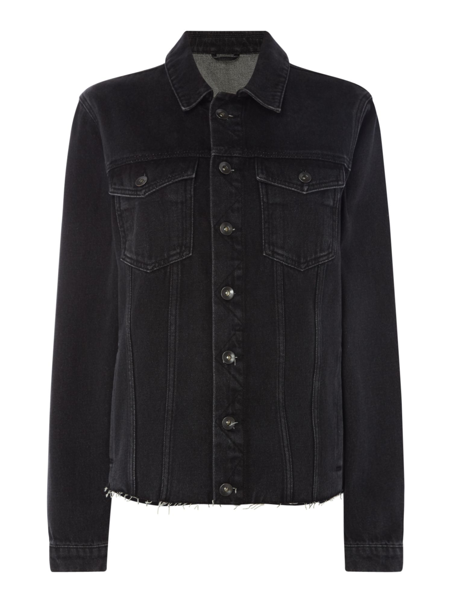 Label Lab Denim trucker jacket, Black