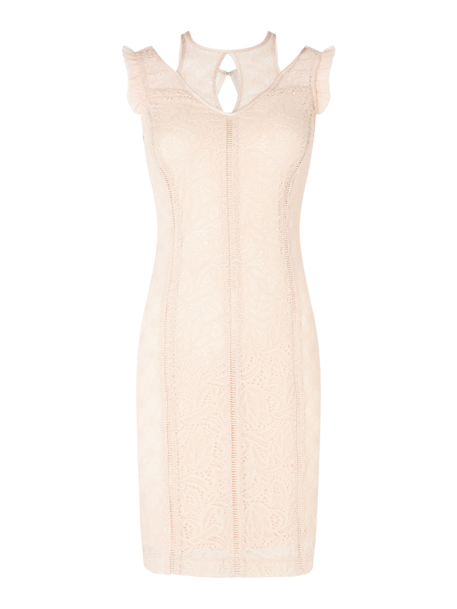 Guess Lace bodycon dress, Pink