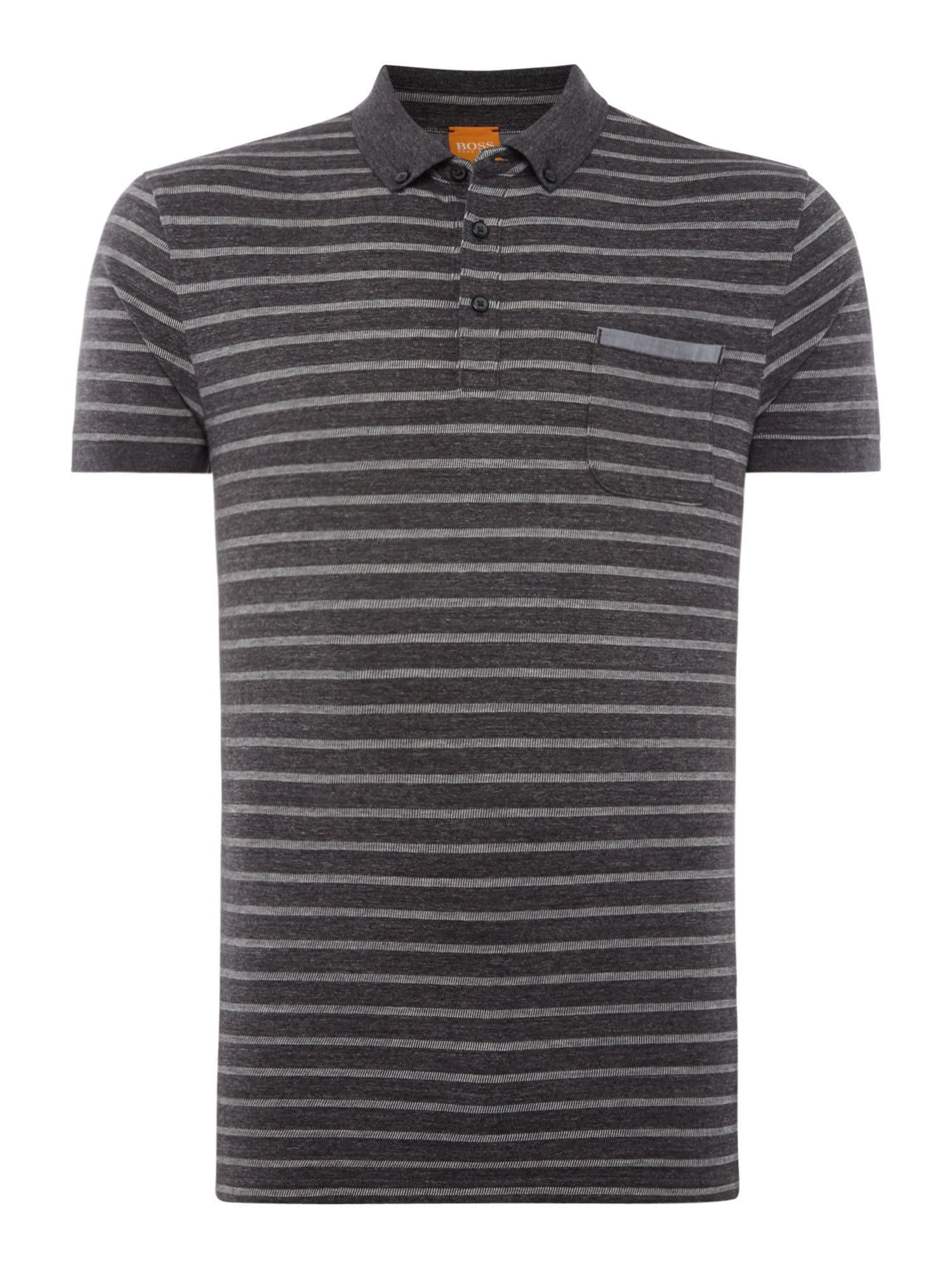 Men's Hugo Boss Powerful striped polo, Charcoal