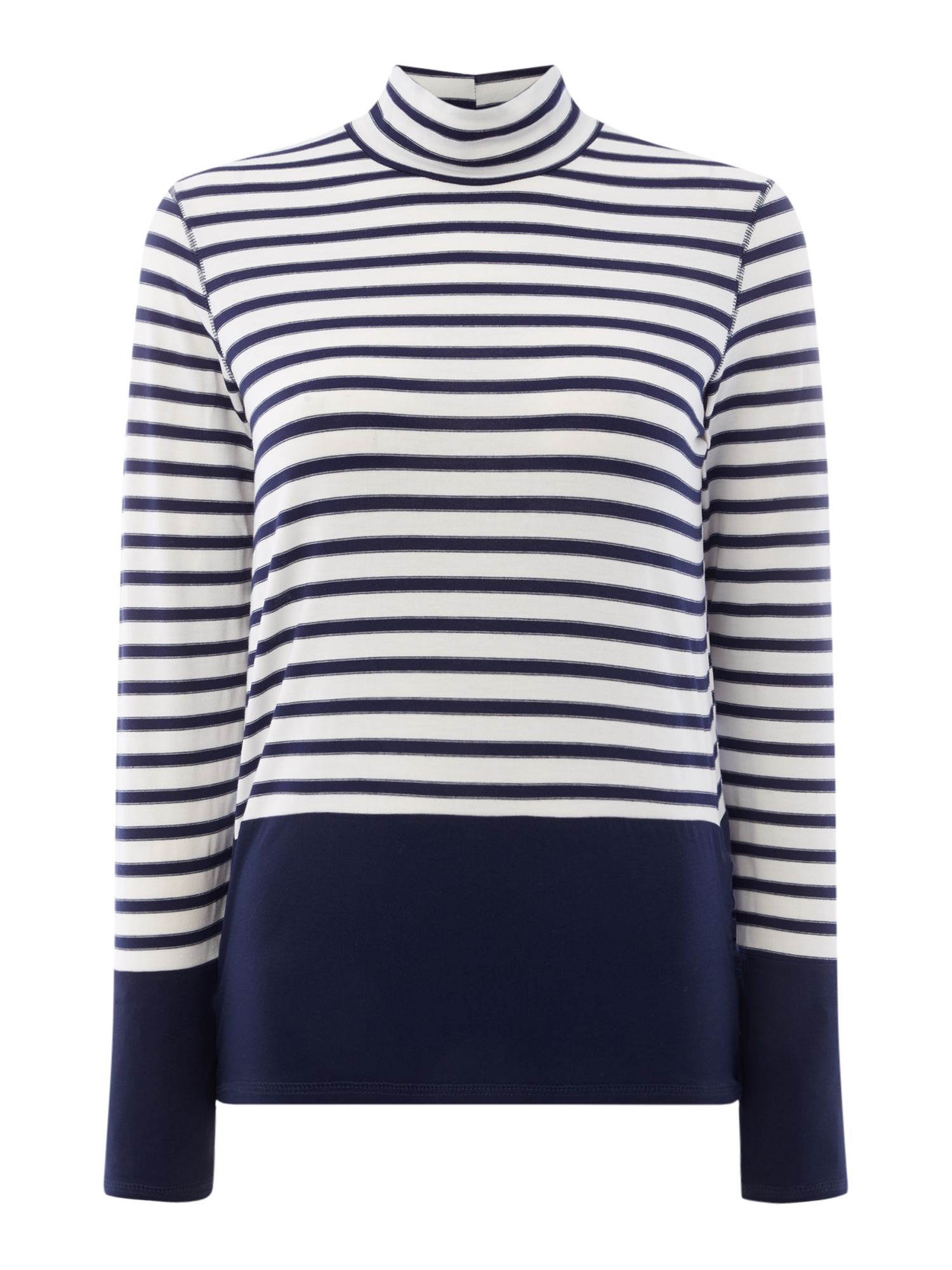 Maison De Nimes Elm Stripe Roll Neck, Blue