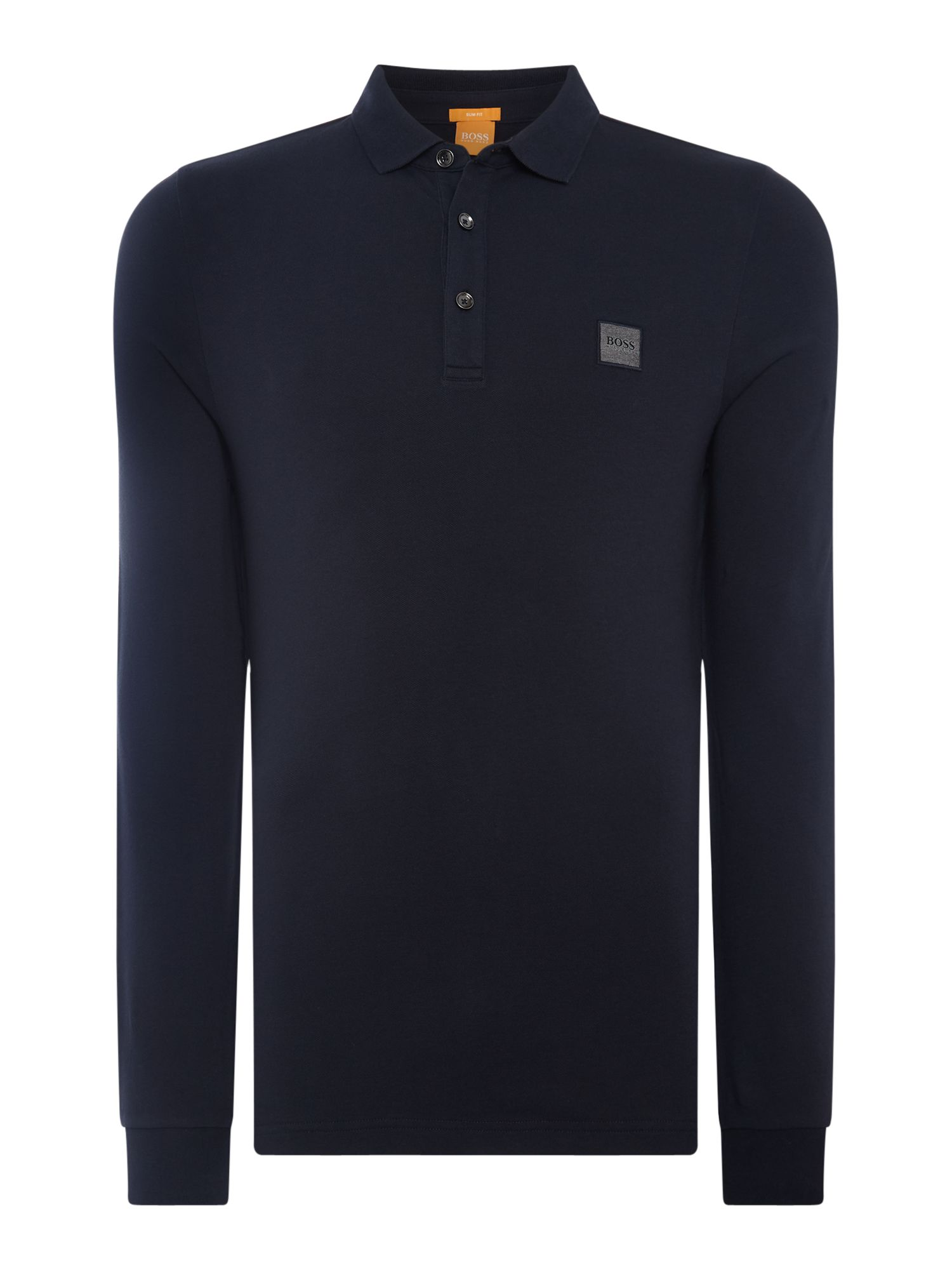 Men's Hugo Boss Paulyn long sleeve slim fit polo shirt, Blue