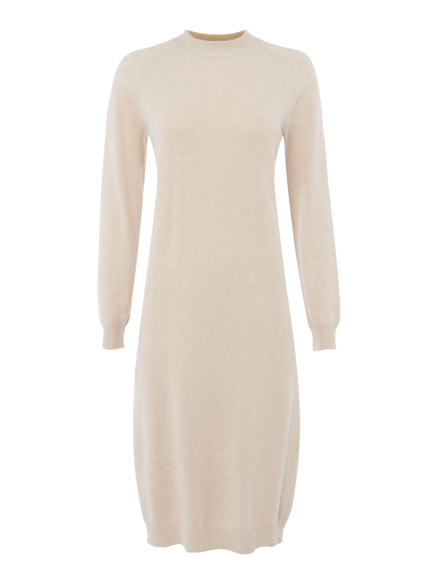 Max Mara Weekend Riom round neck long sleeve knitted dress, Sand