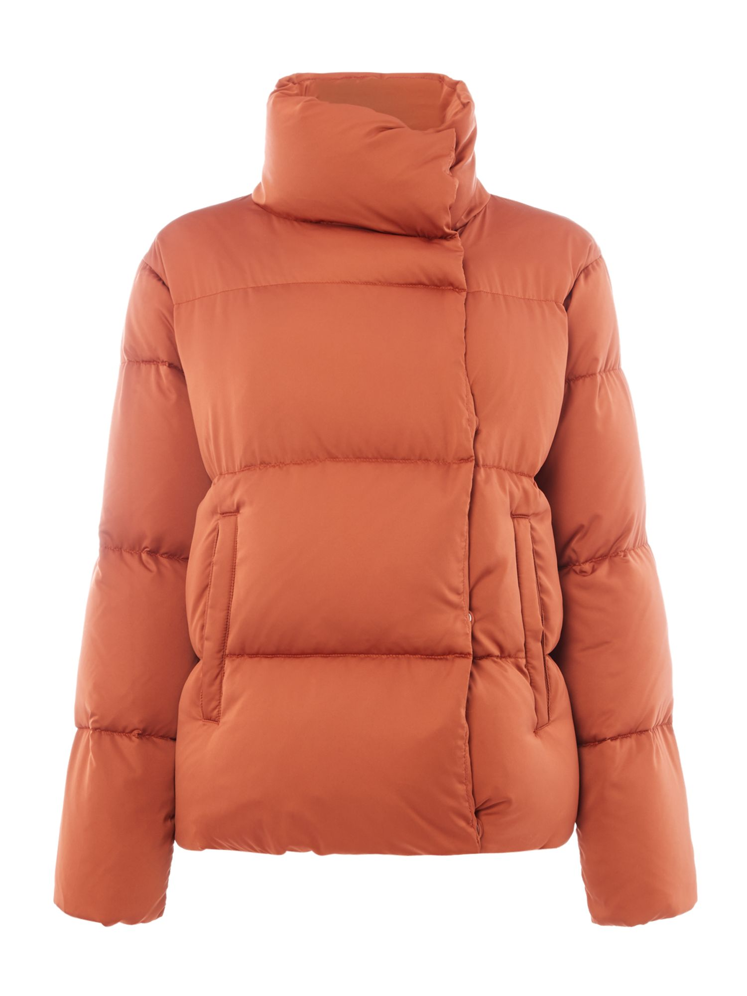 Max Mara Weekend Caio orange quilted short jacket, Orange