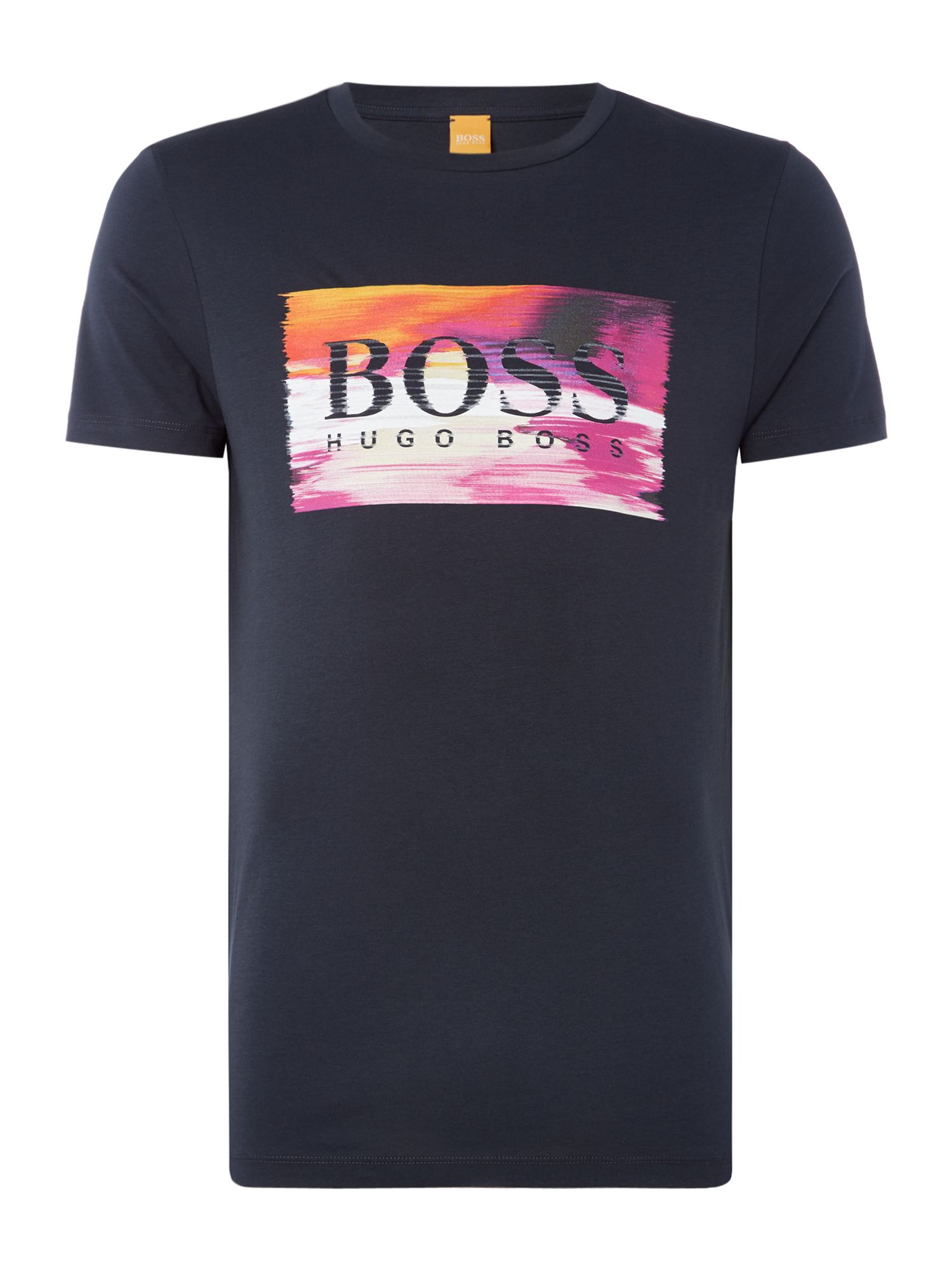 Men's Hugo Boss Typical large logo crew neck t-shirt, Blue