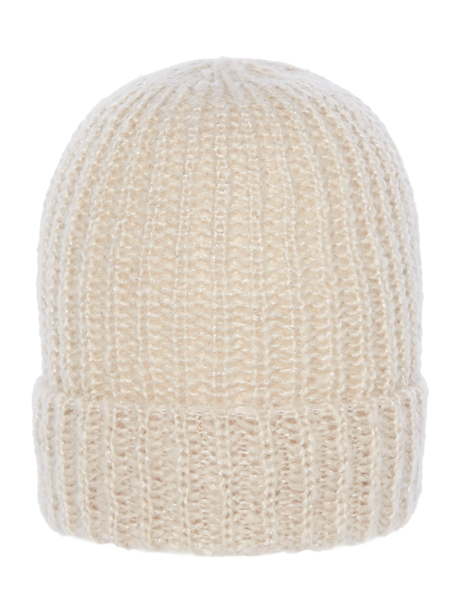 Label Lab Hats Layla rib knitted hat, Cream