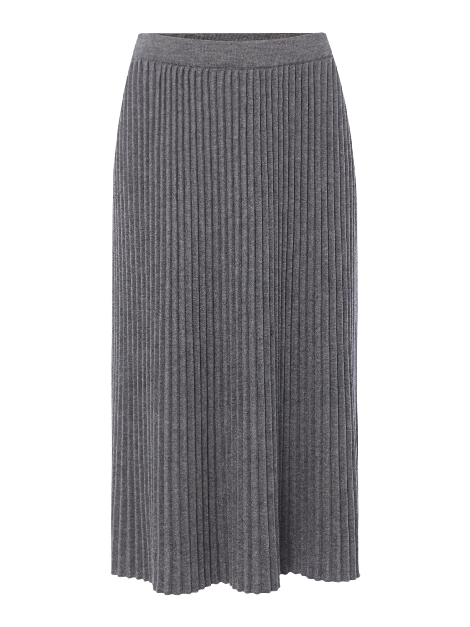 Max Mara Weekend Stella pleated knitted skirt, Grey