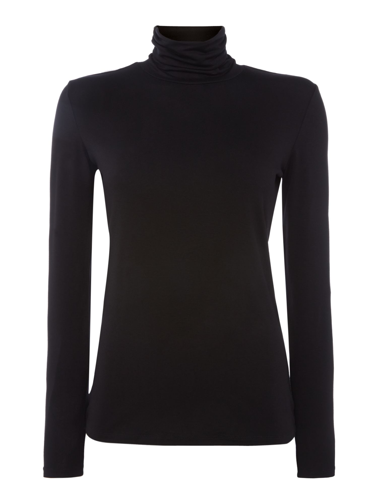 Max Mara Weekend Multig long sleeve roll neck tee, Black