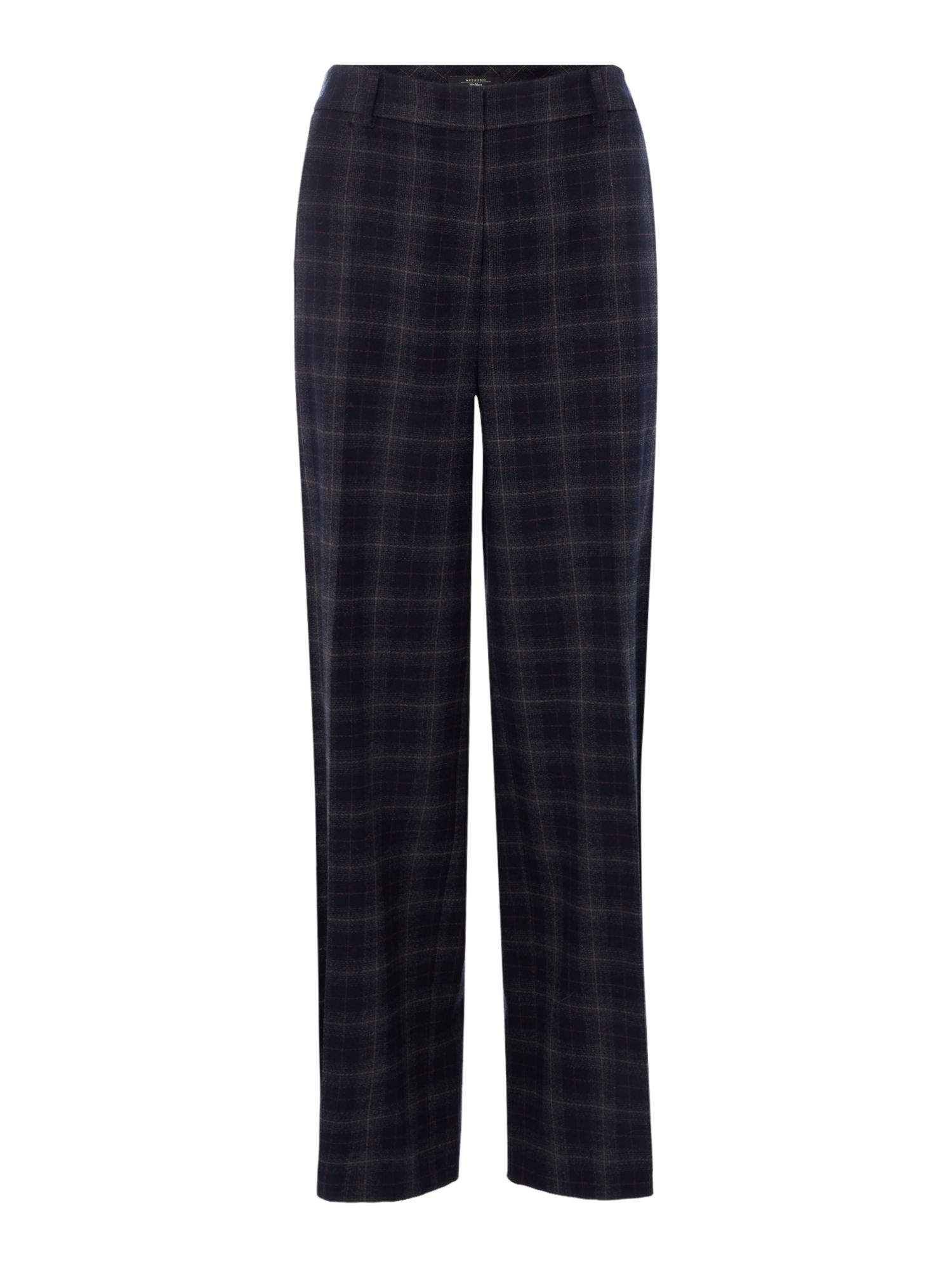 Max Mara Weekend Brianza long check trousers, Ultramarine