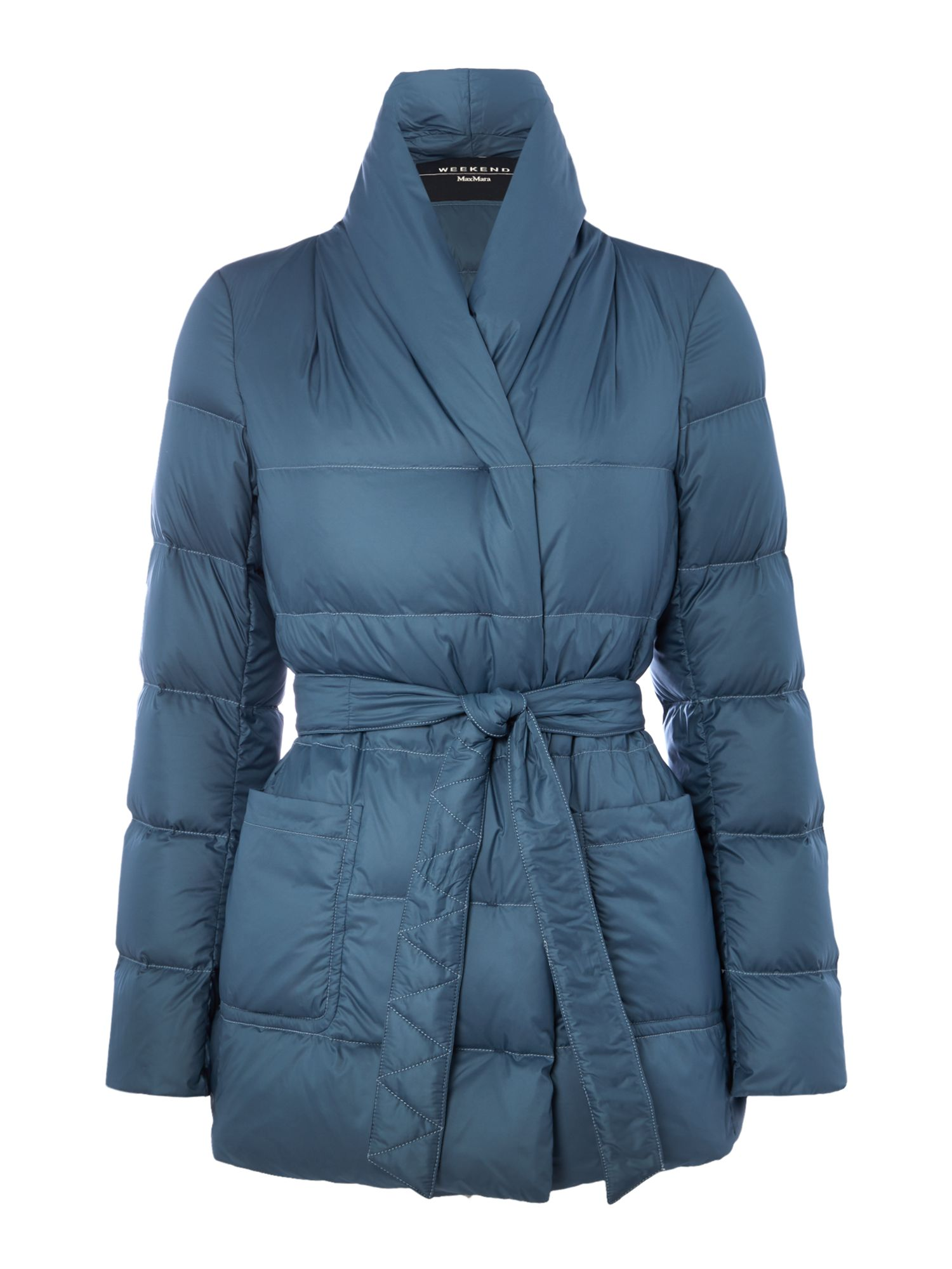Max Mara Weekend Triolo quilted jacket, Light Blue