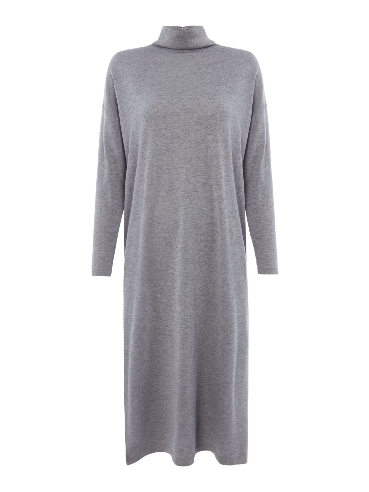 Max Mara Weekend Argo knitted dress with tie waist detail, Grey