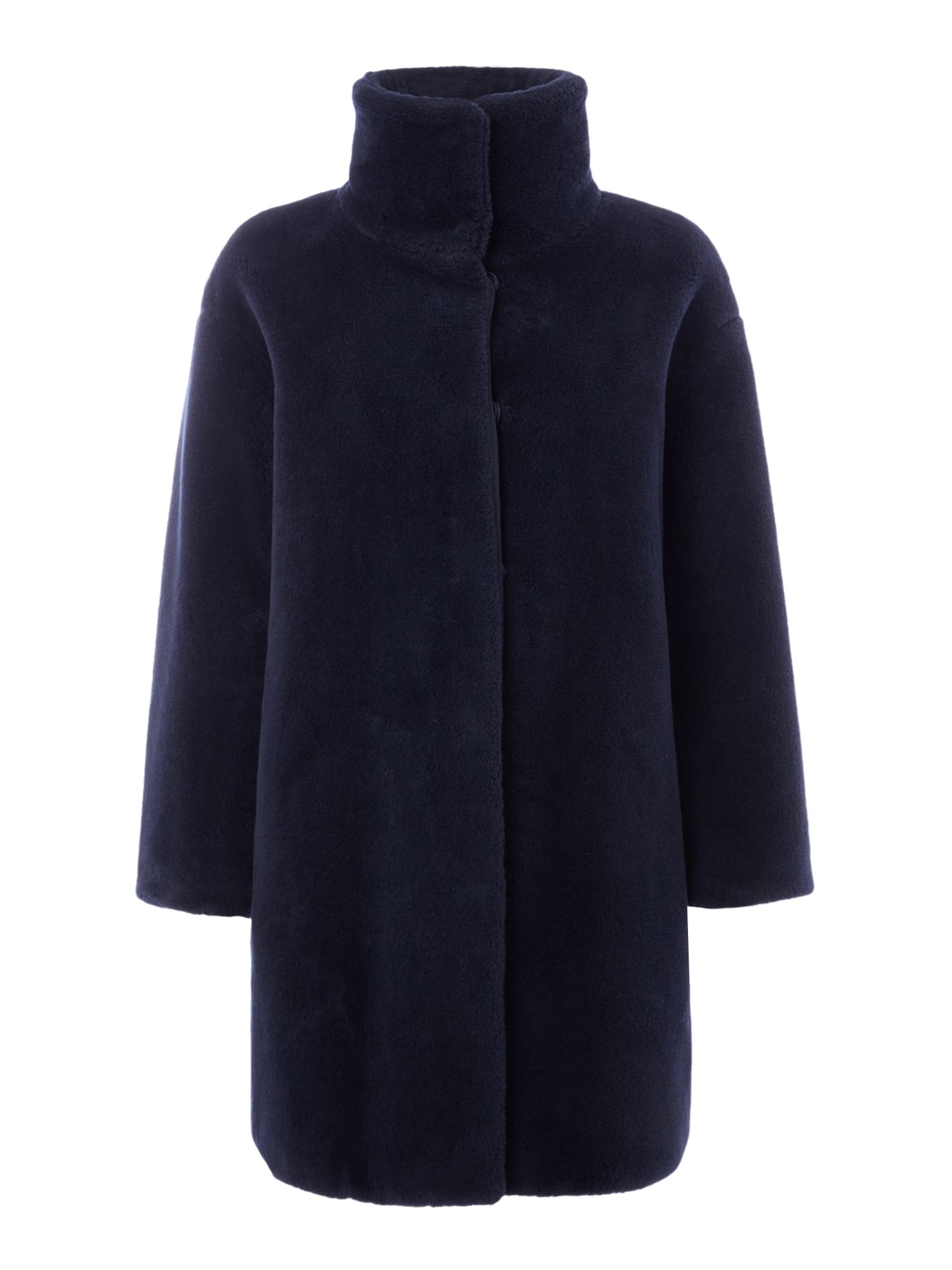Max Mara Weekend Lipari faux fur coat, Ultramarine