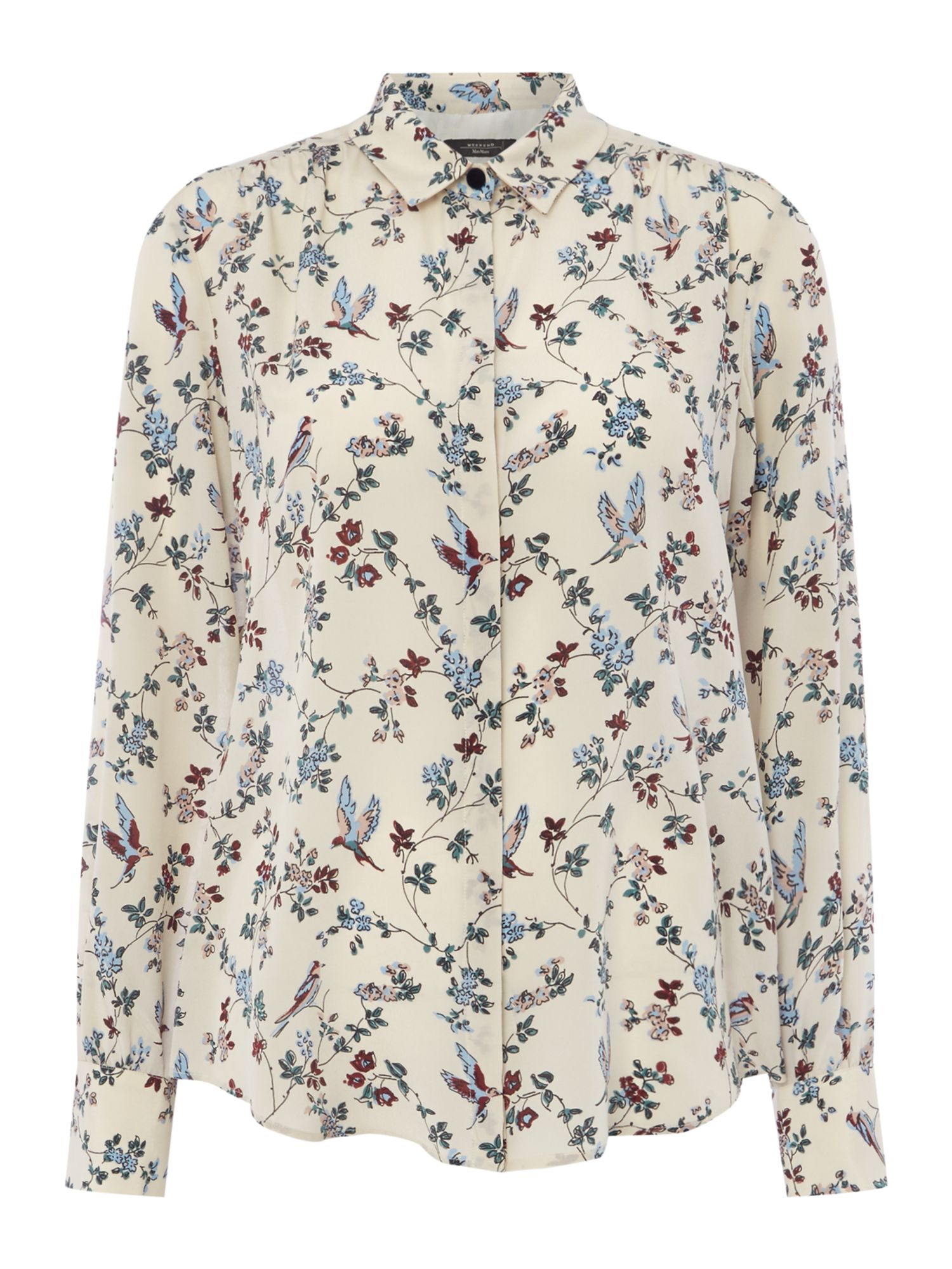 Max Mara Weekend Leandro floral printed shirt, Cream