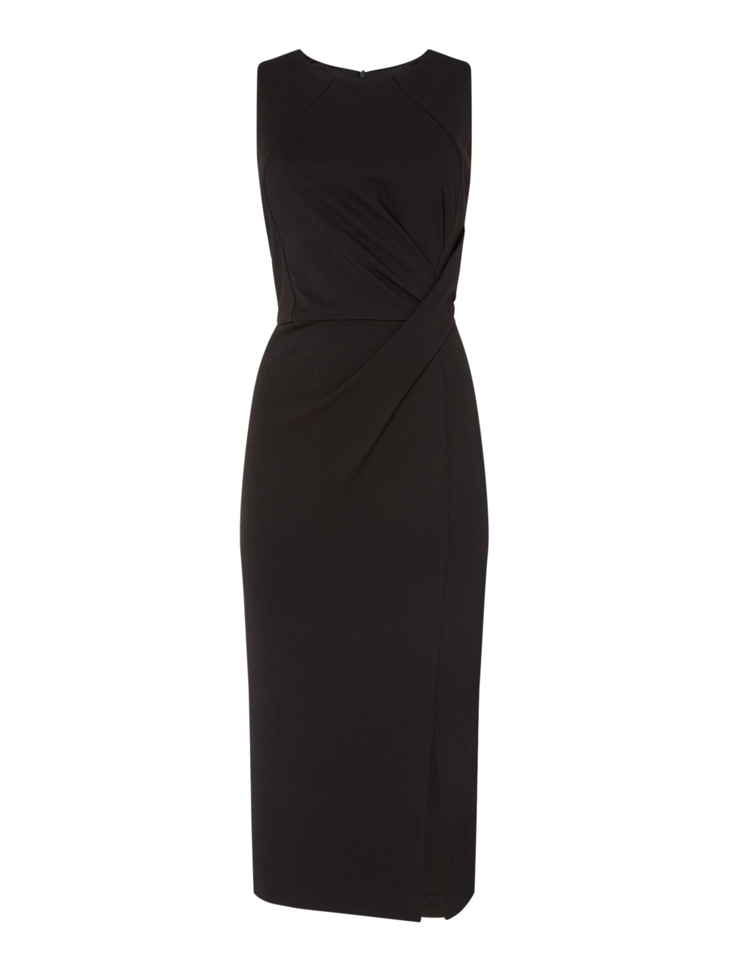 Linea Gigi bodycon dress with twist front, Black