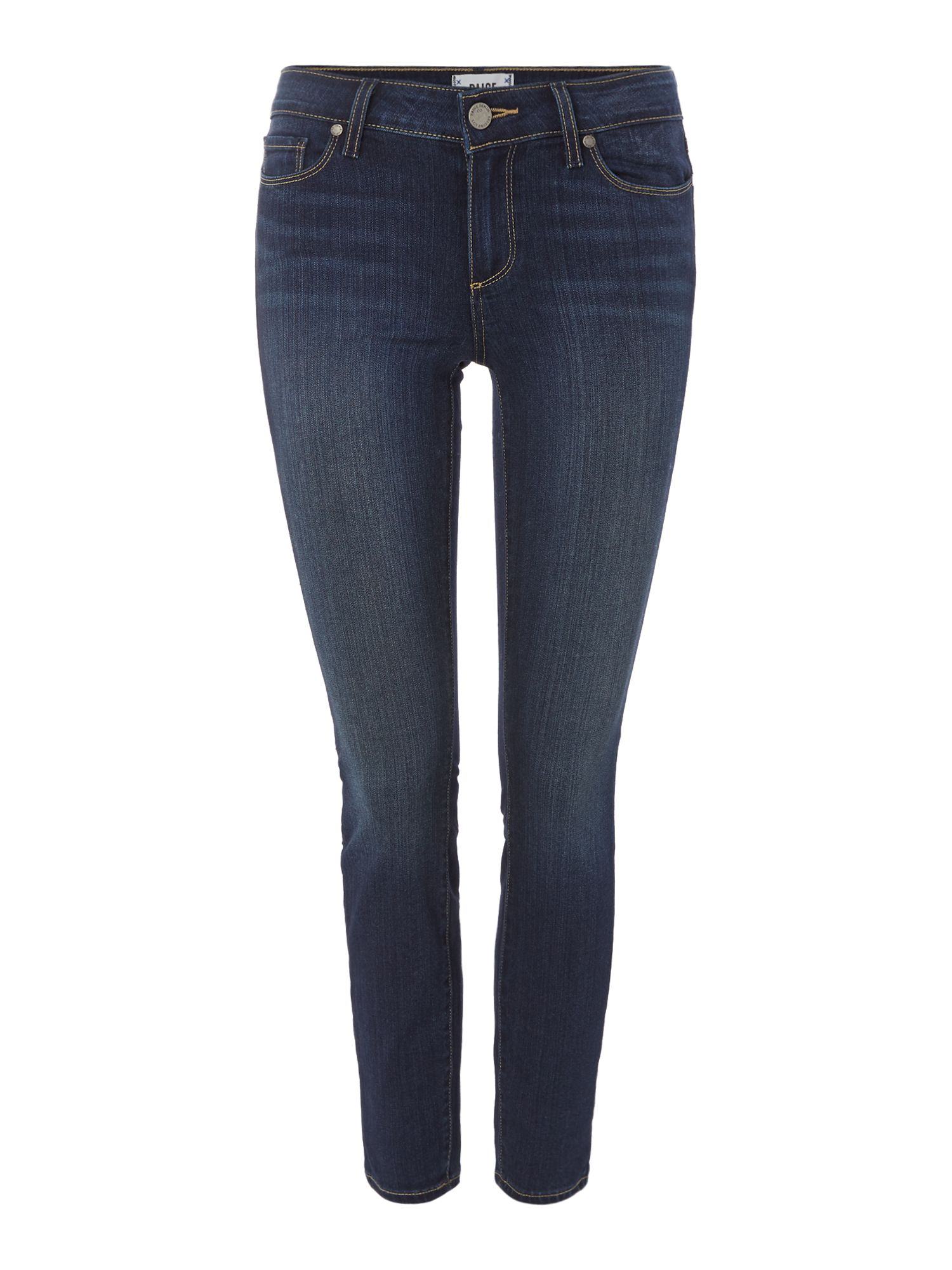 Verdugo Mid Rise Ankle Skinny Jeans In Nottingham, Denim Dark Wash