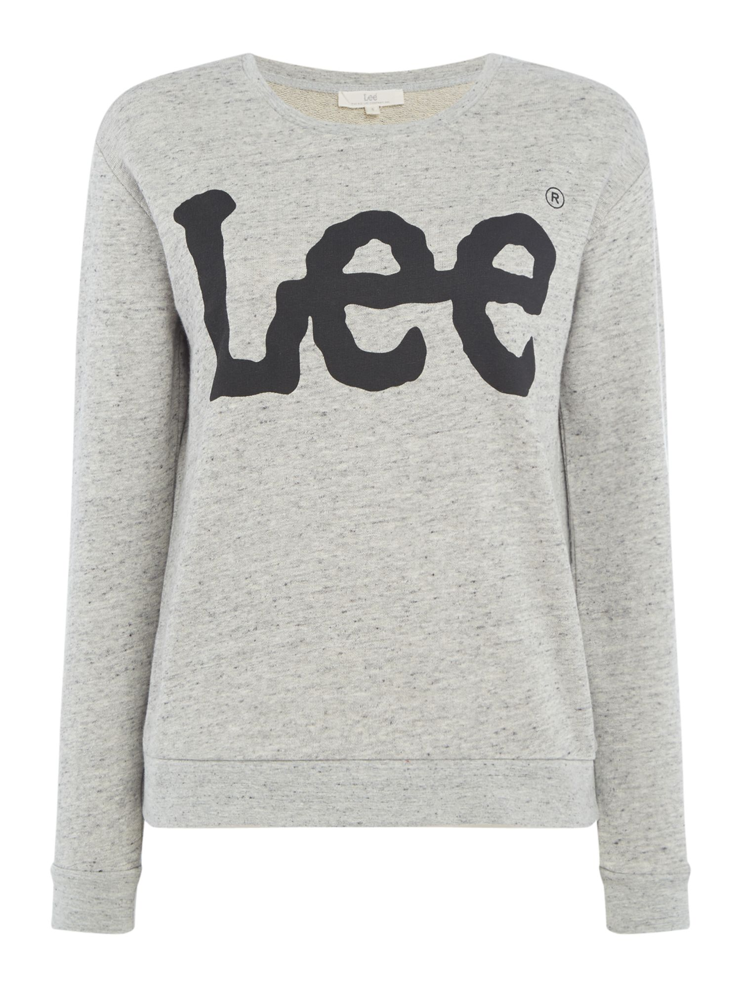 Lee Sweatshirt With Large Logo, Grey