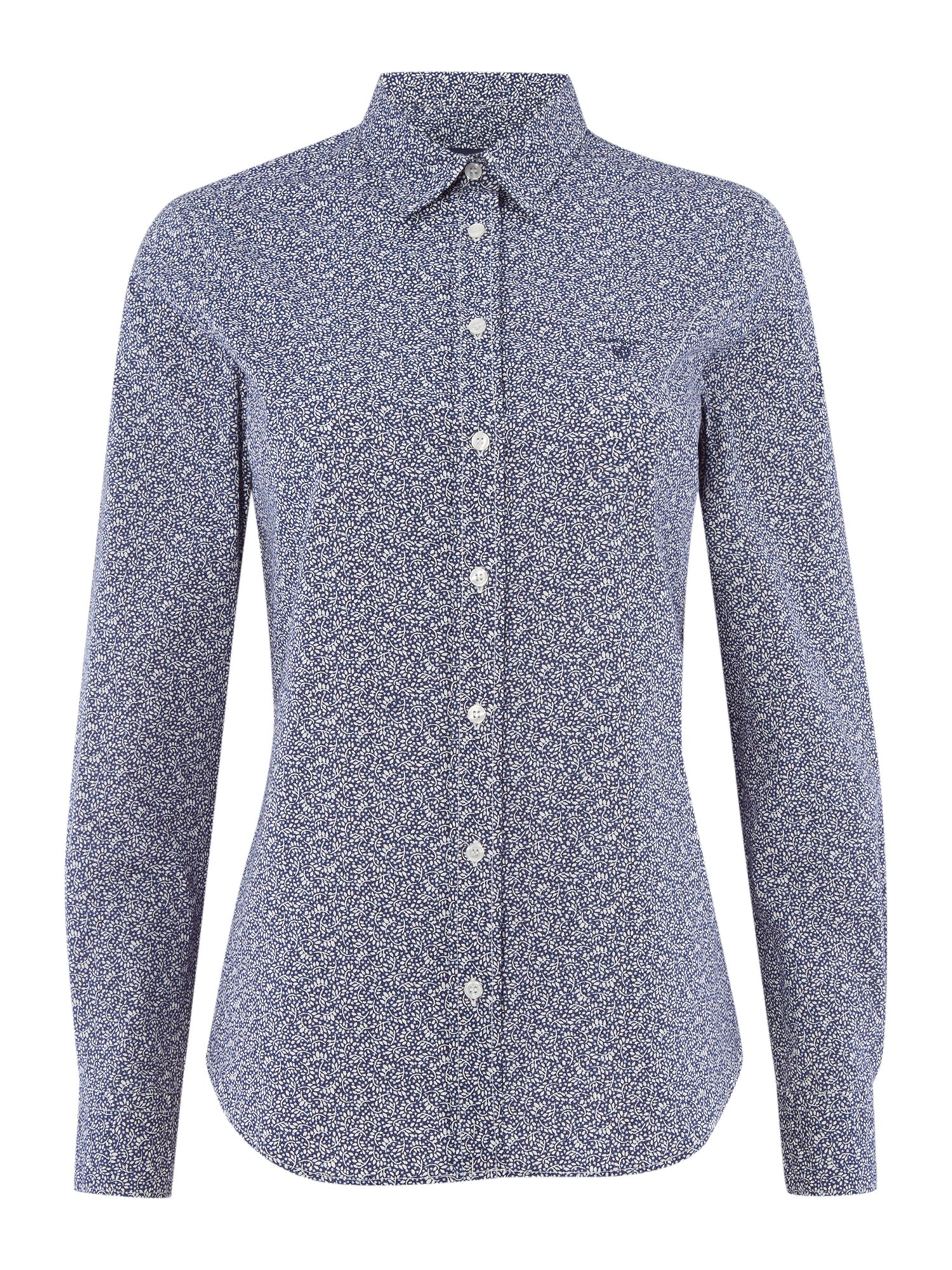 Gant Woven Dot Printed Shirt, Blue