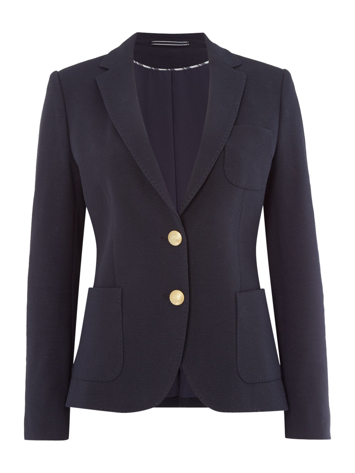 Gant Tailored Botton Front Blazer, Blue