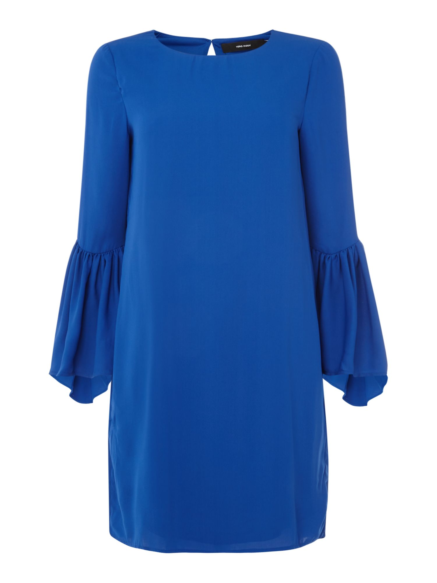 Vero Moda Bell 3/4 sleeve shift dress, Blue