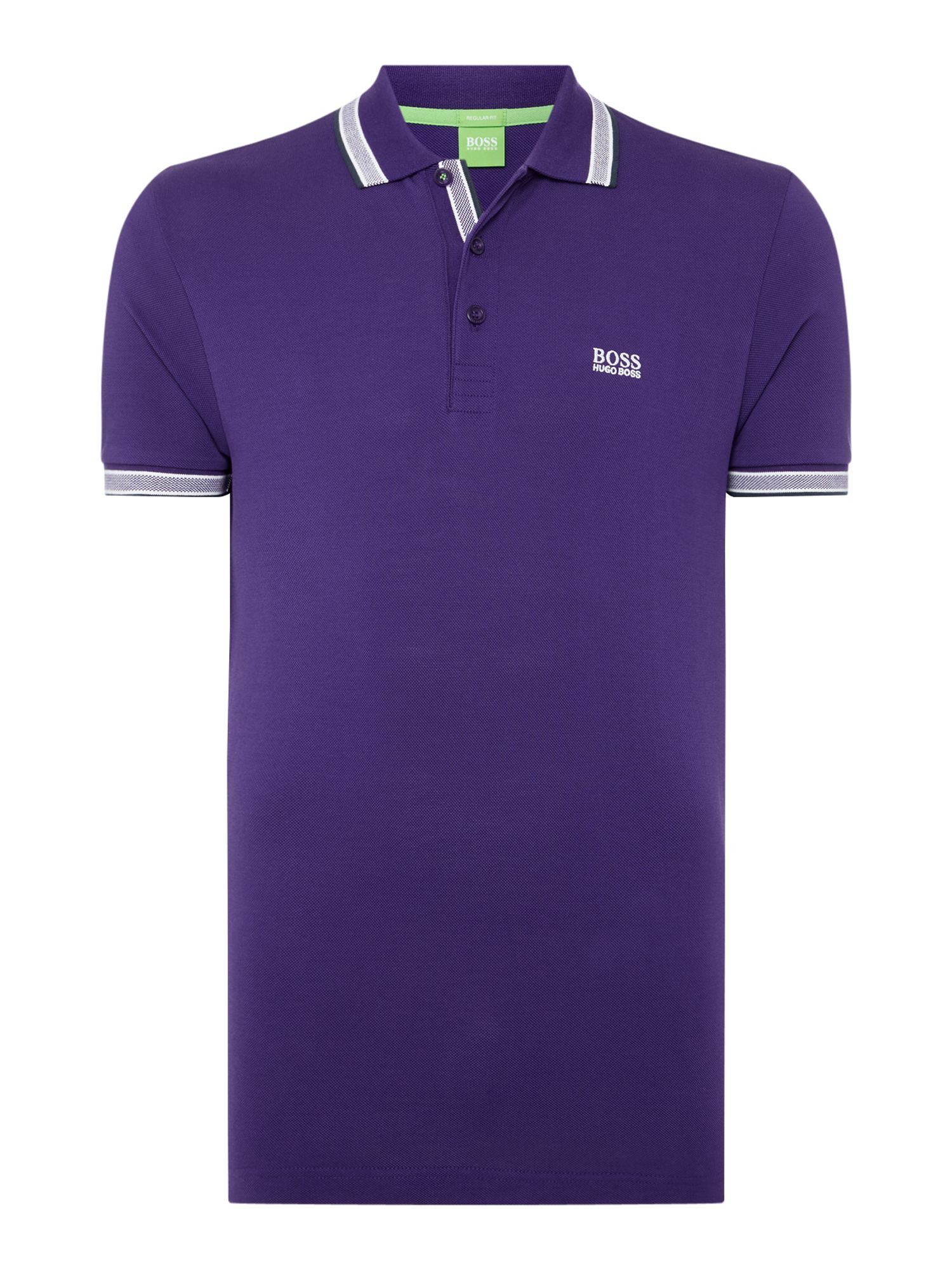 Men's Hugo Boss Paddy Short Sleeve Polo Shirt, Purple