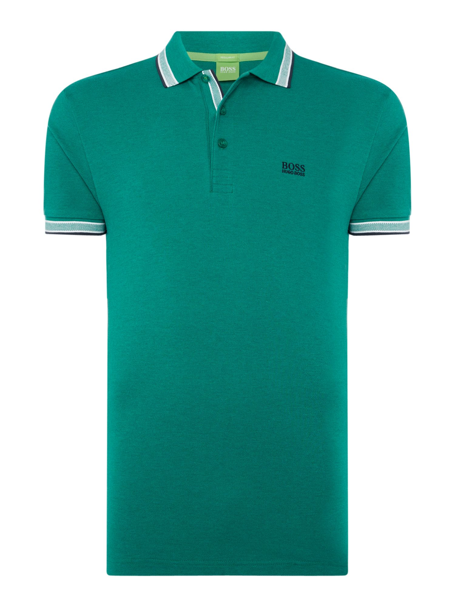 Men's Hugo Boss Paddy Short Sleeve Polo Shirt, Green