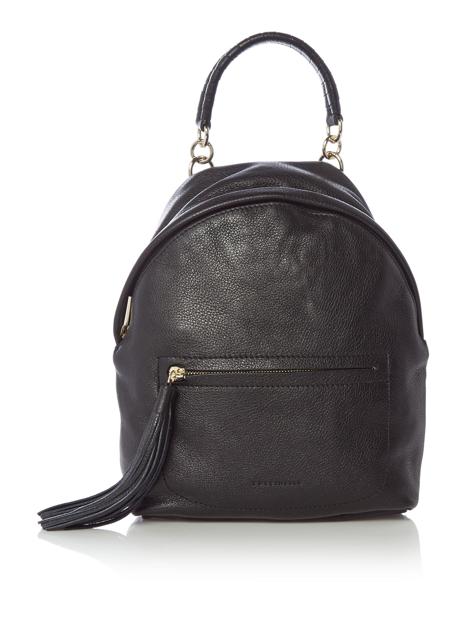 Coccinelle Leonie tassle backpack, Black