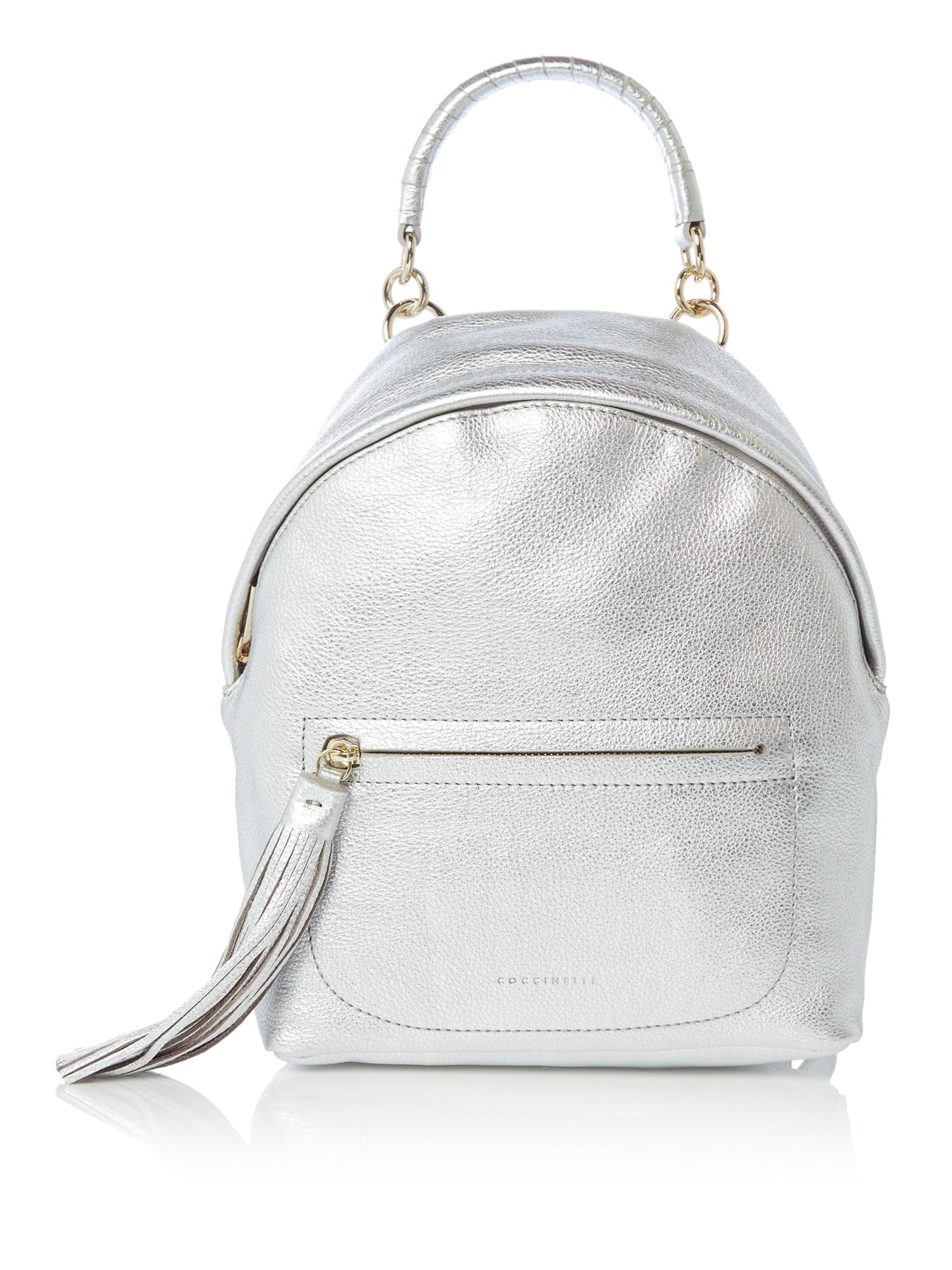 Coccinelle Leonie tassle backpack, Silver