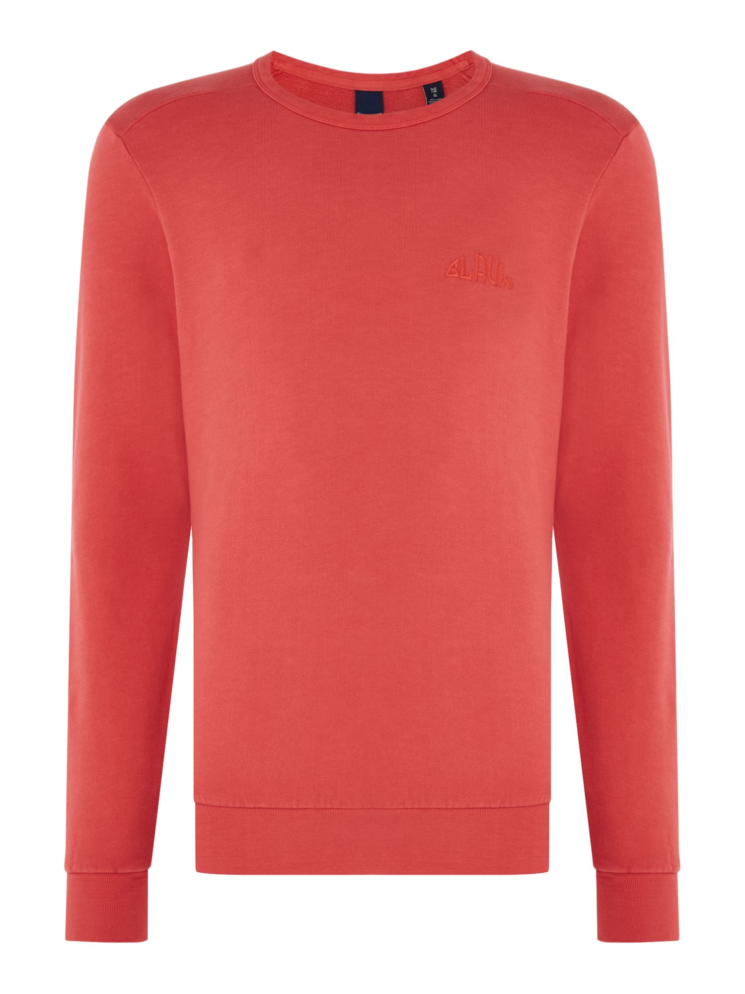 Men's Scotch & Soda Garment Dyed Sweatshirt, Red