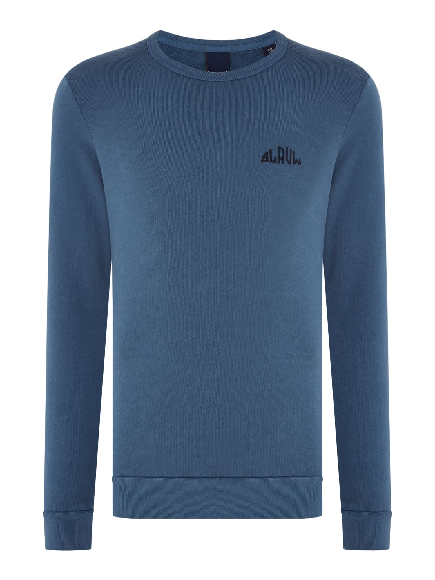 Men's Scotch & Soda Garment Dyed Sweatshirt, Blue