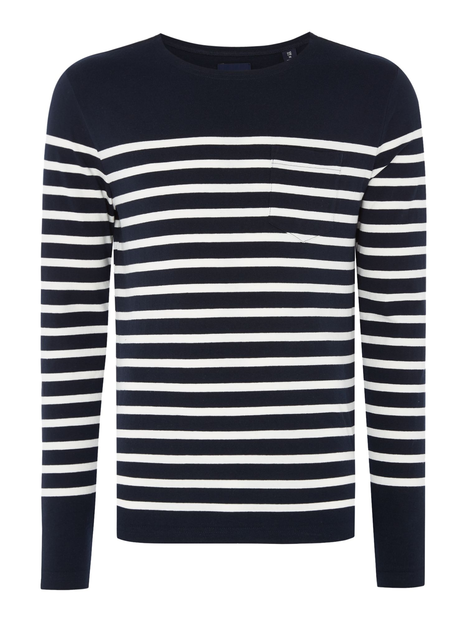Men's Scotch & Soda Engineered Breton Stripe Sweatshirt, Blue