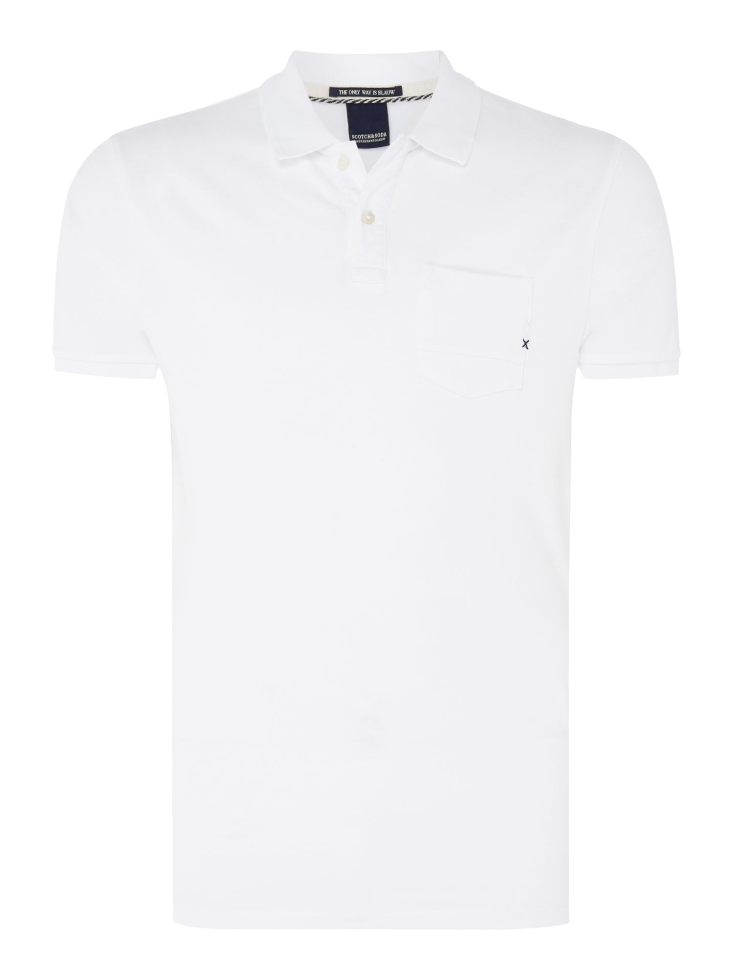 Men's Scotch & Soda Garment Dyed Polo, White