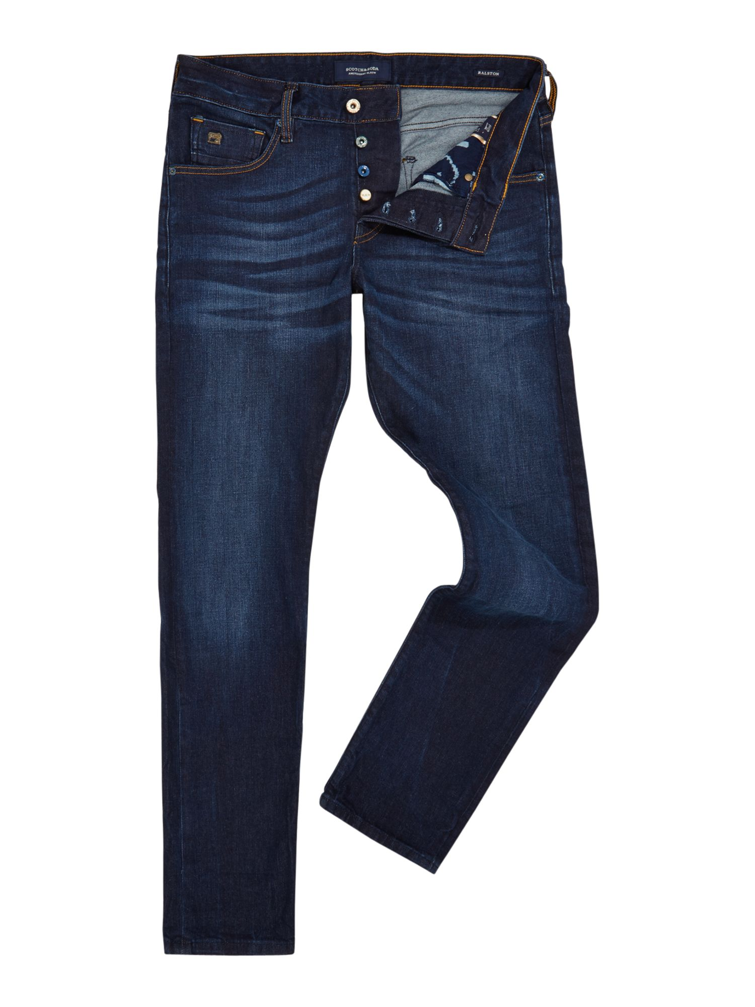 Mens Ralston Jeans  Black And Blue, Black & Blue